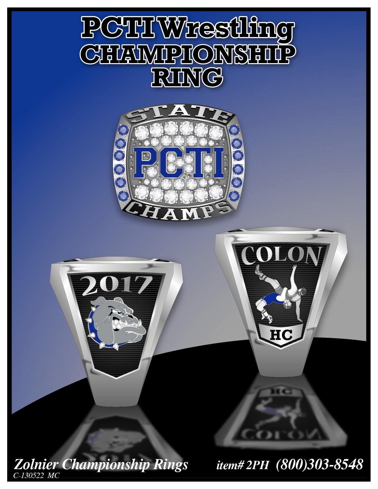 C-130522 Wrestling Championship Ring