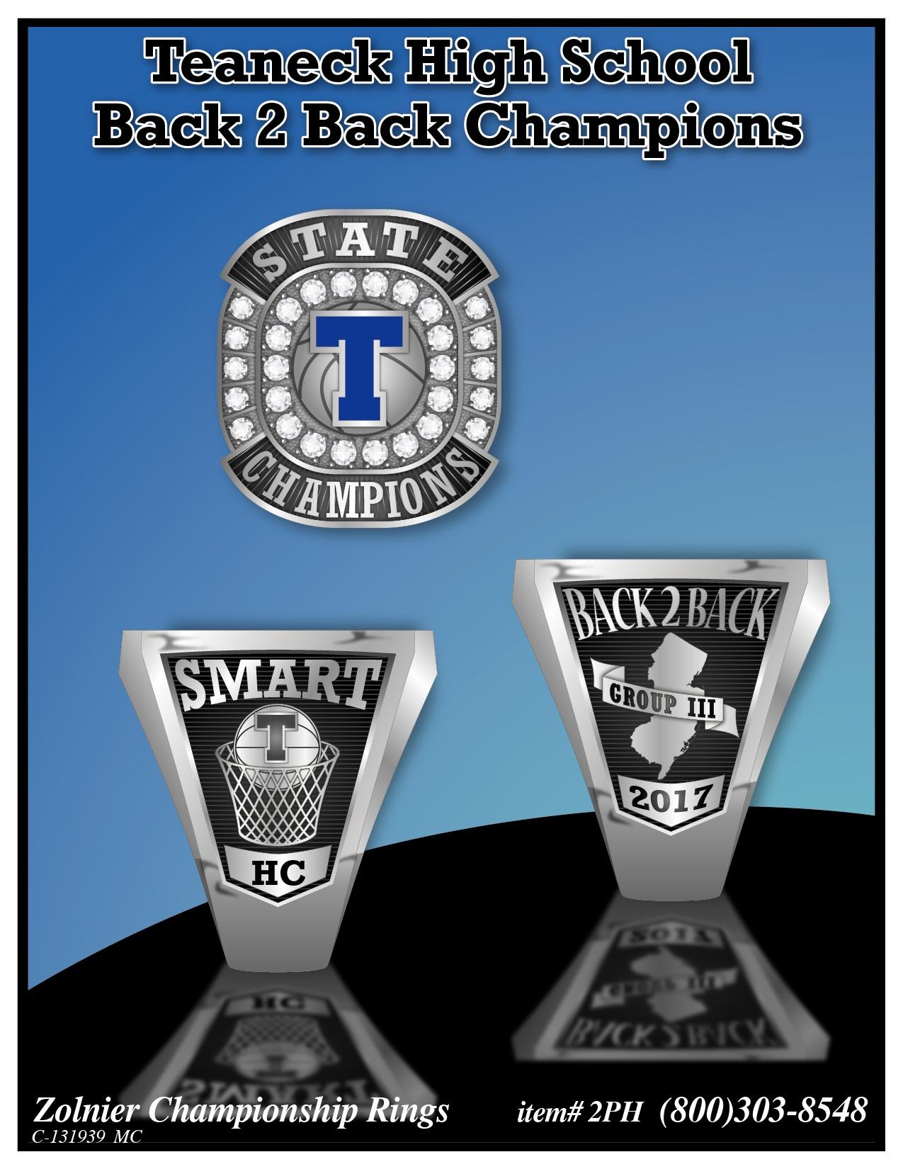 C-131939 Teaneck HS B2B Championship Ring 2