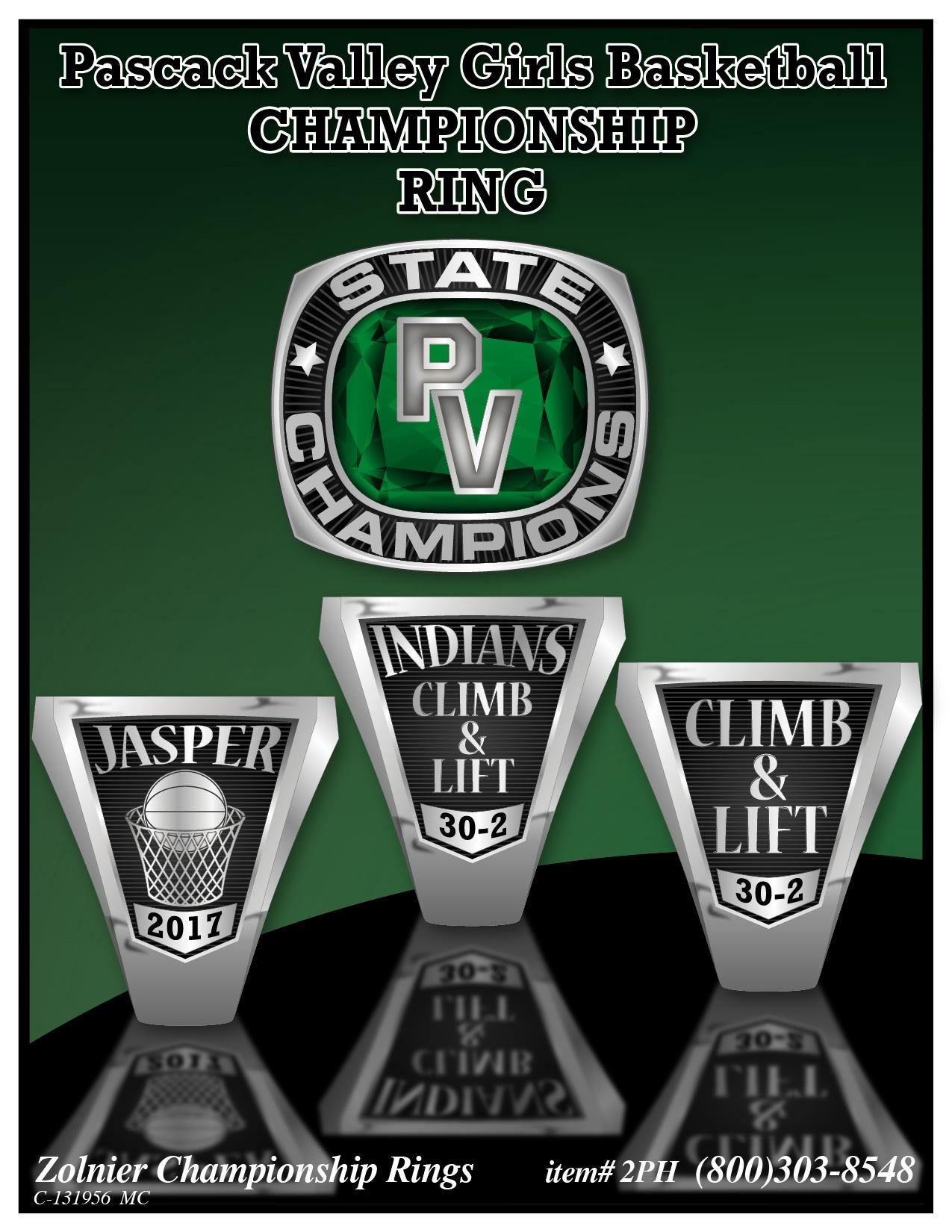 C-131956 Pascack Valley Girls Basketball Championship Ring 1