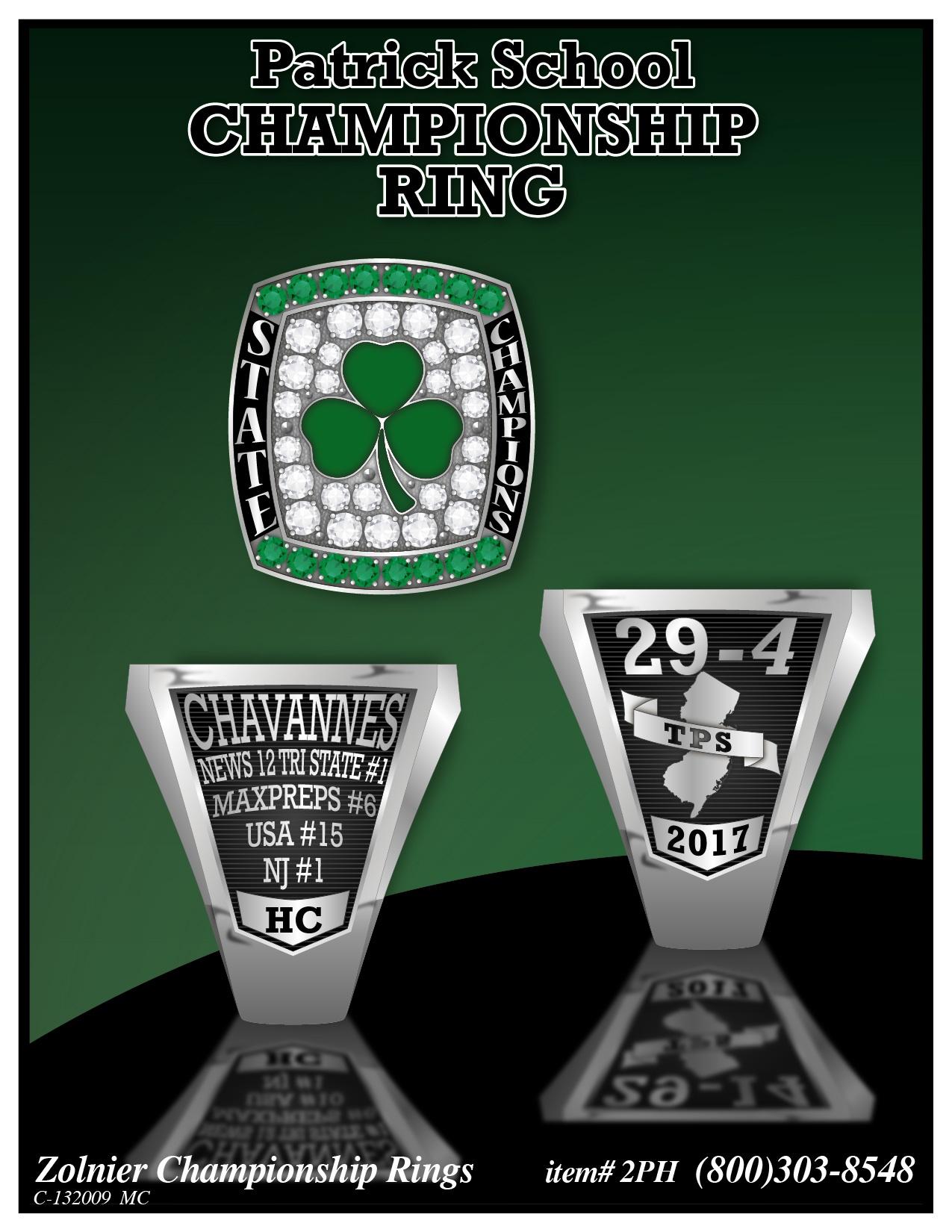 C-132009 Patrick Basketball Championship Ring MC-01