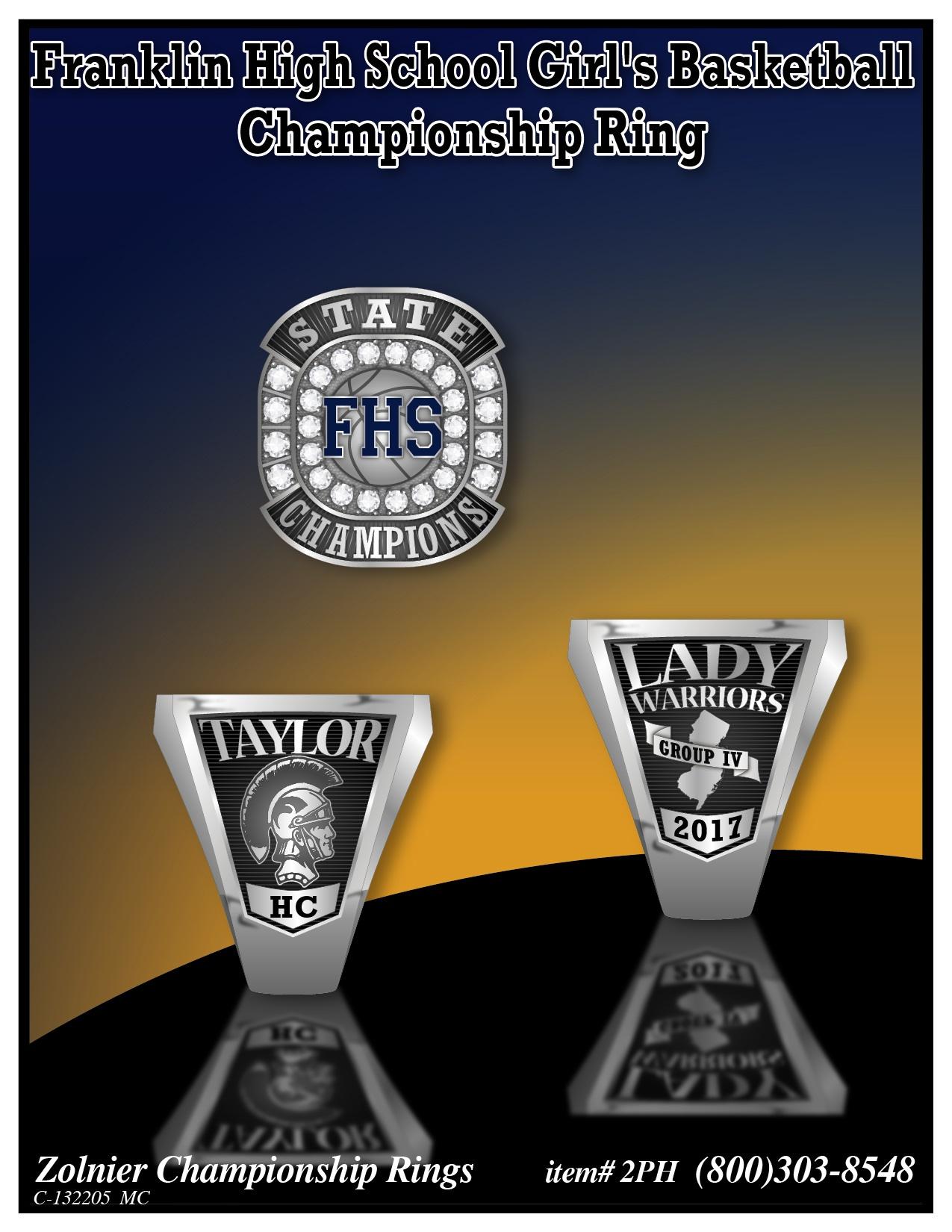 C-132205 Franklin Girls Basketball Championship Ring