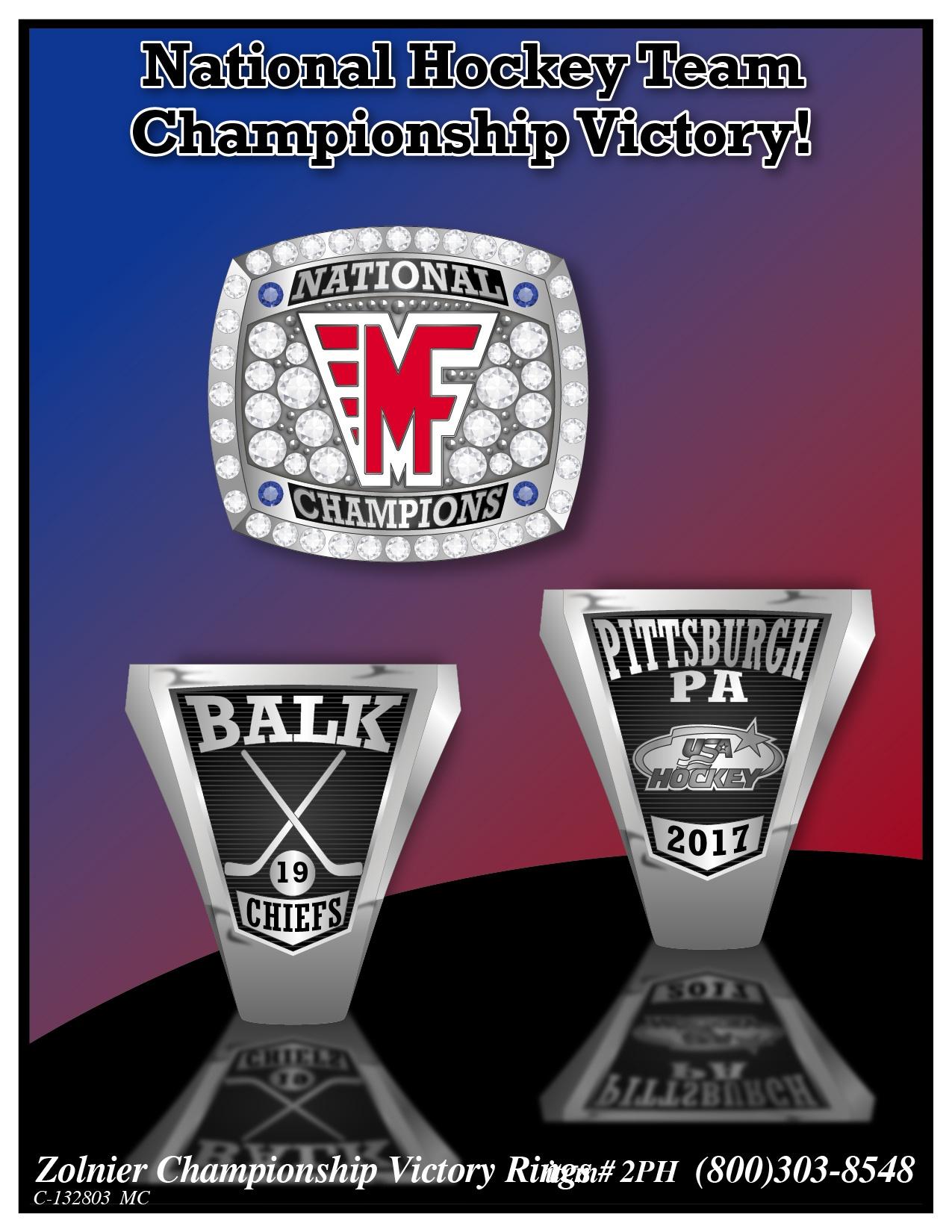 C-132803 National Hockey Championship Ring