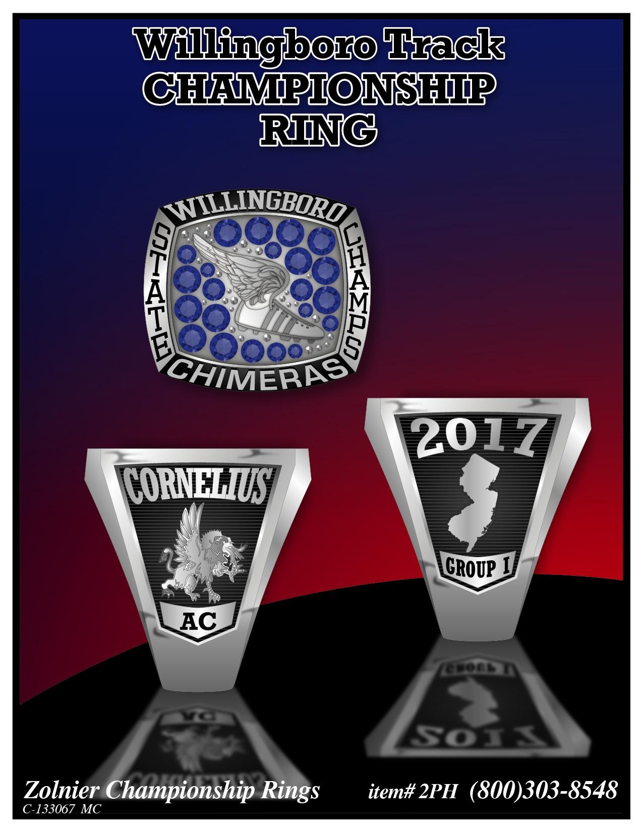 C-133067-2 Willingboro Track Championship Ring