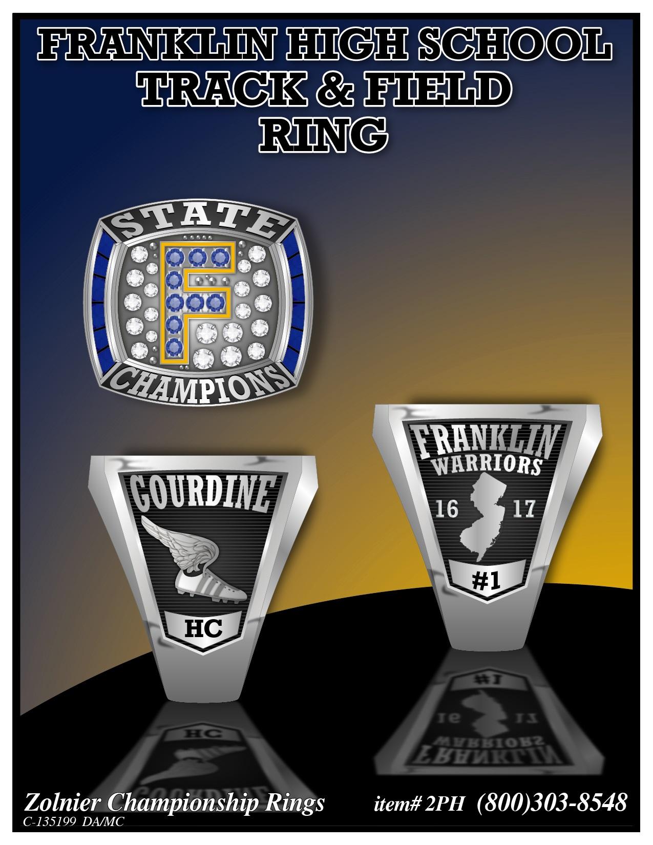 C-135199 Franklin HS Track Champ Ring 1