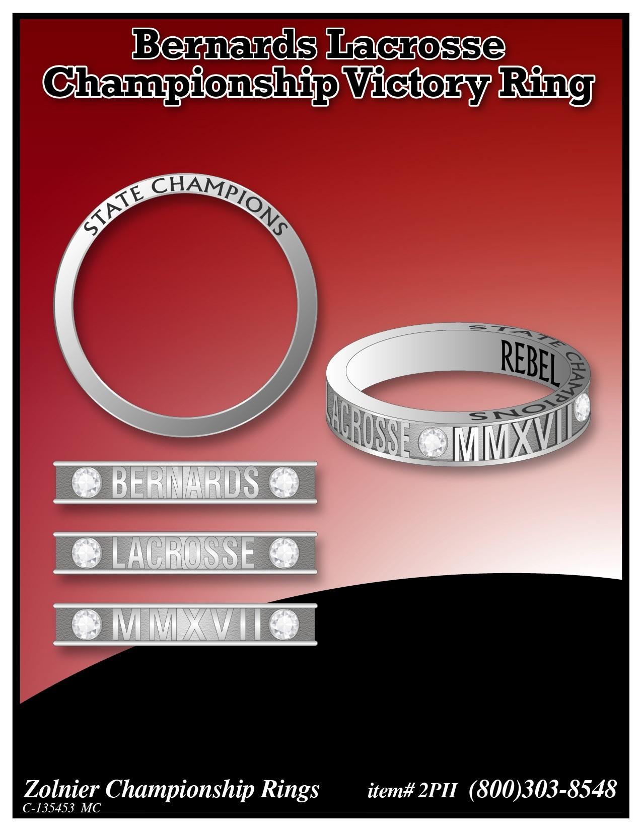 C-135453 Bernards Lacrosse Champ Ring STEEL