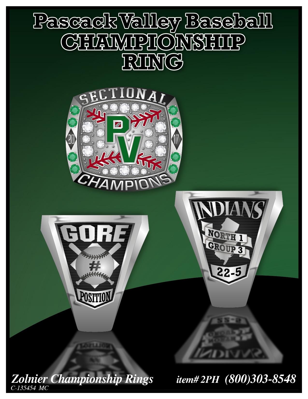 C-135454 Pascack Valley Baseball Champ Ring