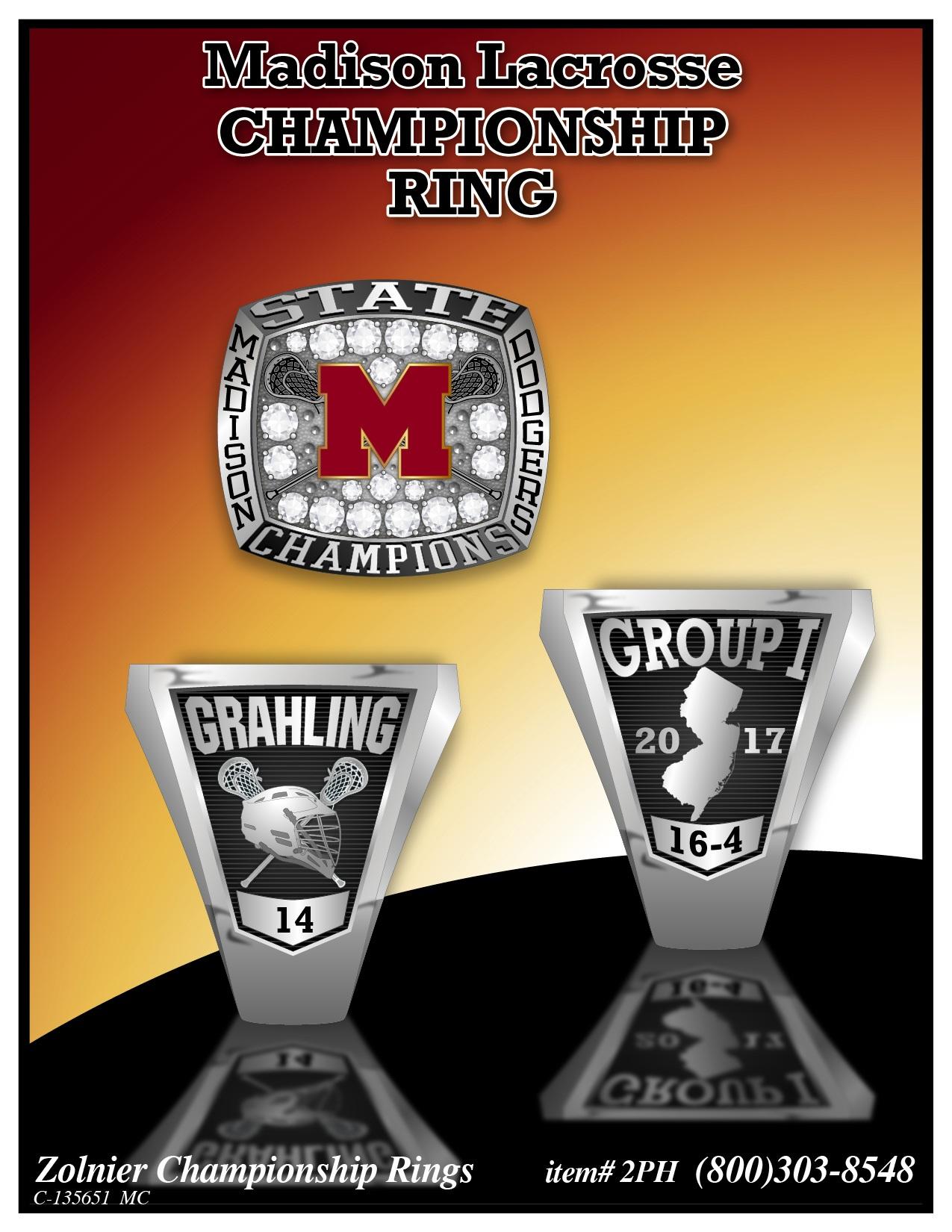 C-135651 Madison Lacrosse Champ Ring MC