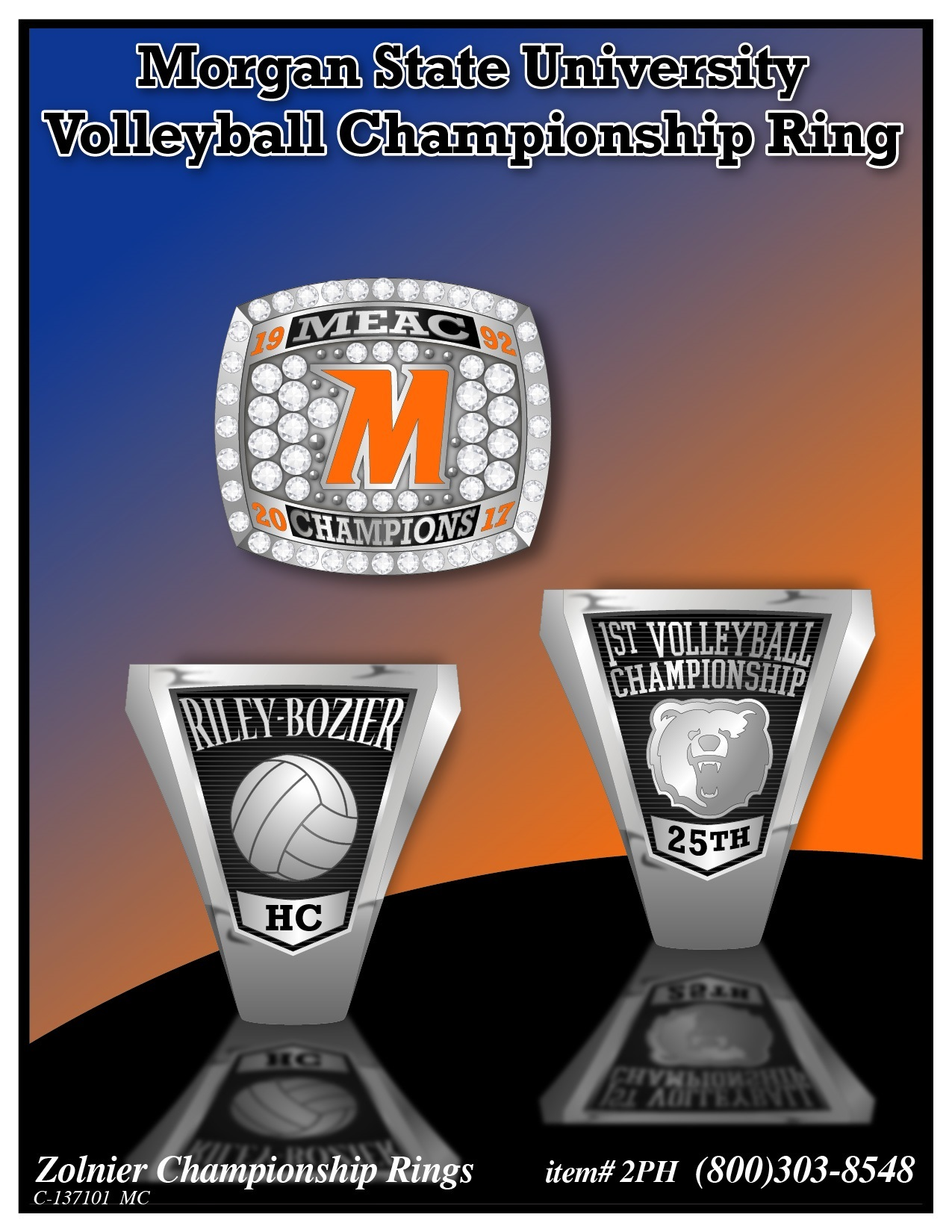 C-137101 Morgan State Volleyball Champ Ring
