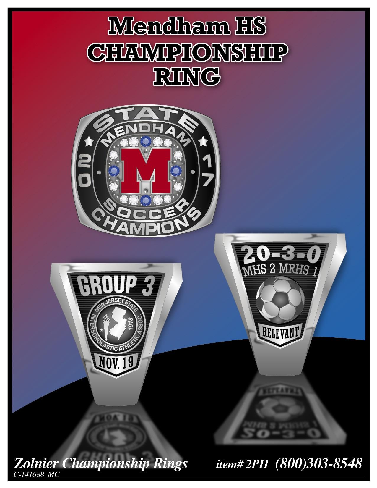 C-141688 Mendham HS Soccer Champ Ring