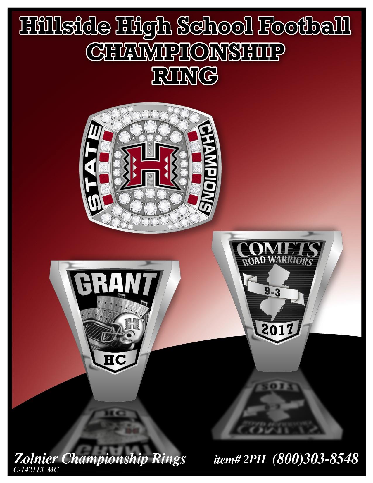 C-142113 Hillside HS Football Champ Ring