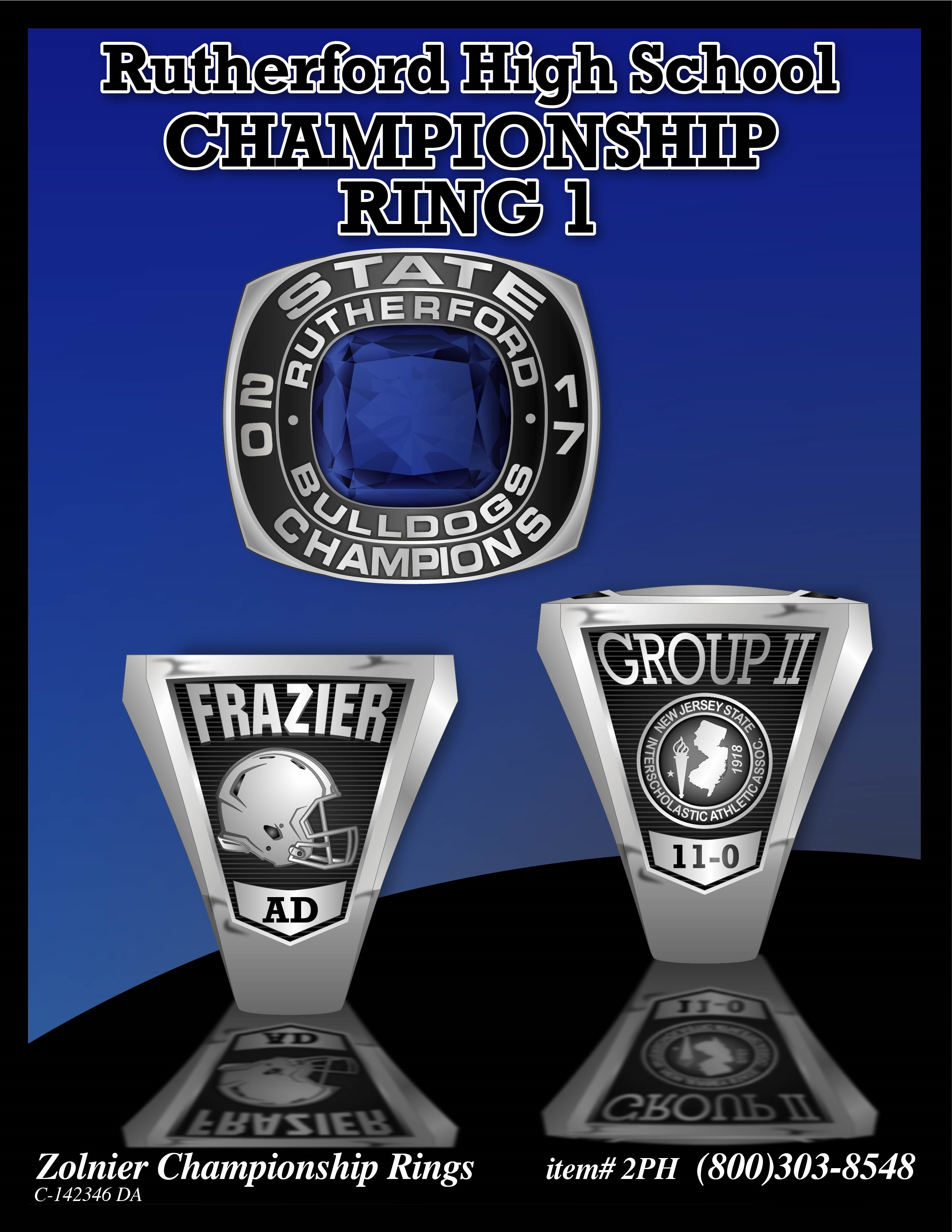 C-142346 Rutherford HS Champ Ring 1