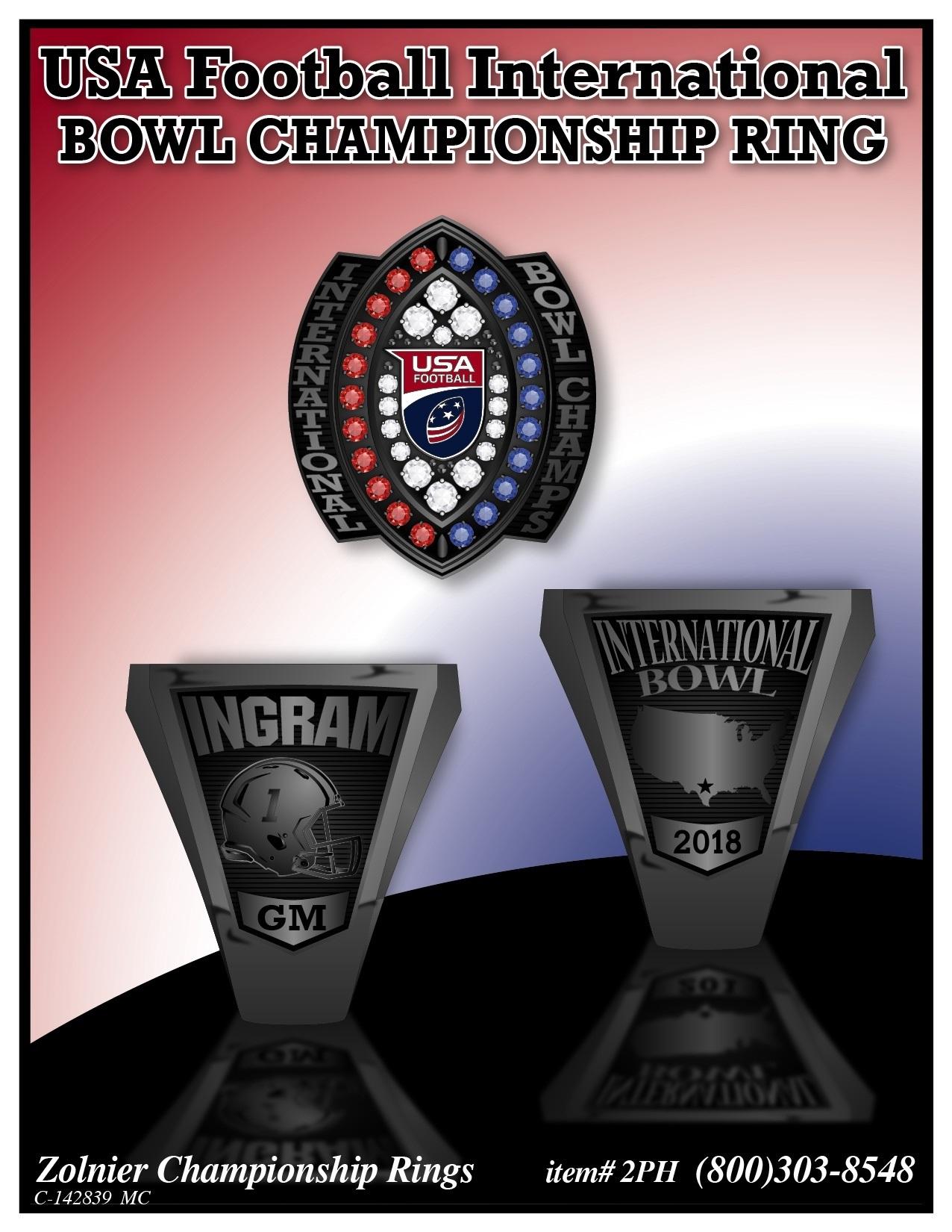 C-142839 USA Football Champ Ring