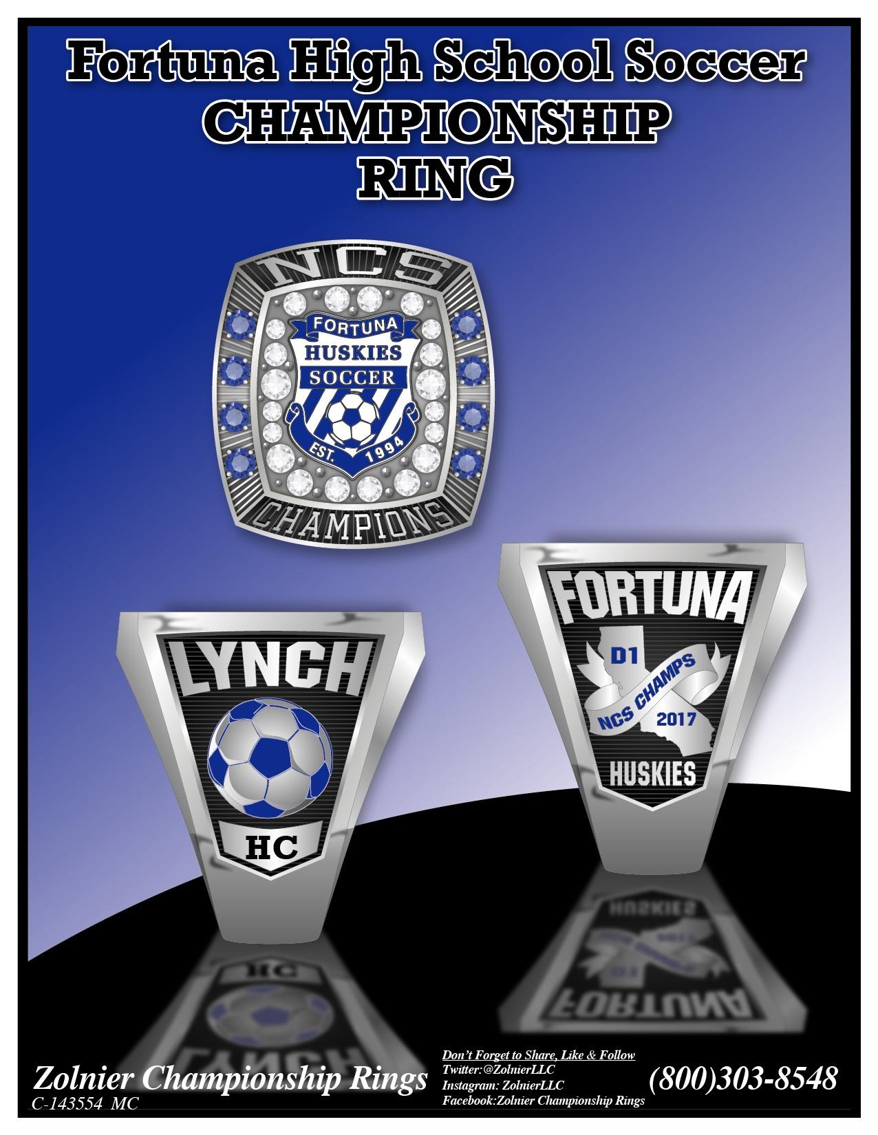 C-143554 Fortuna HS Soccer Champ Ring