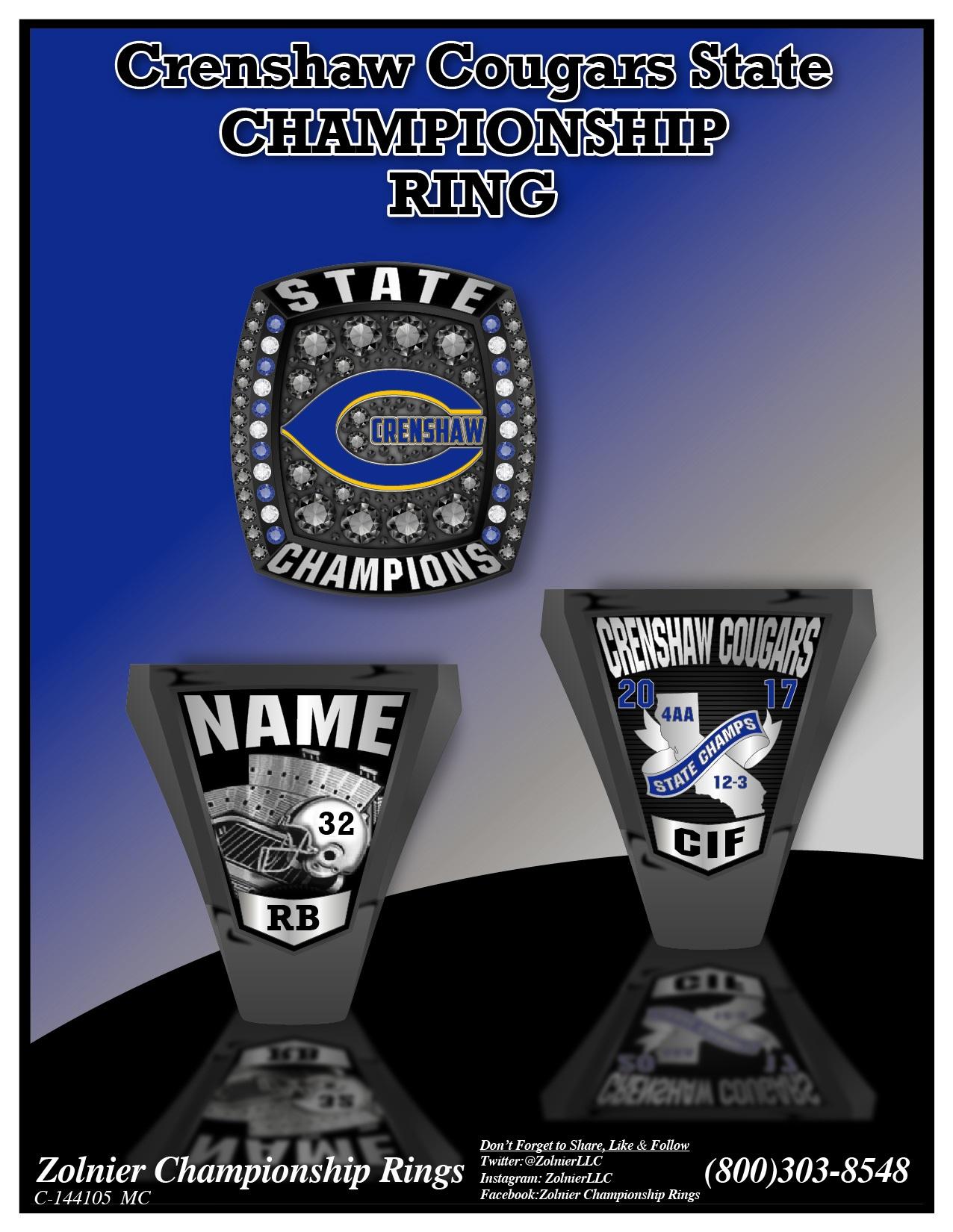 C-144105 ZOLNIER LLT Crenshaw Courgars Champ Ring MC-01 (1)
