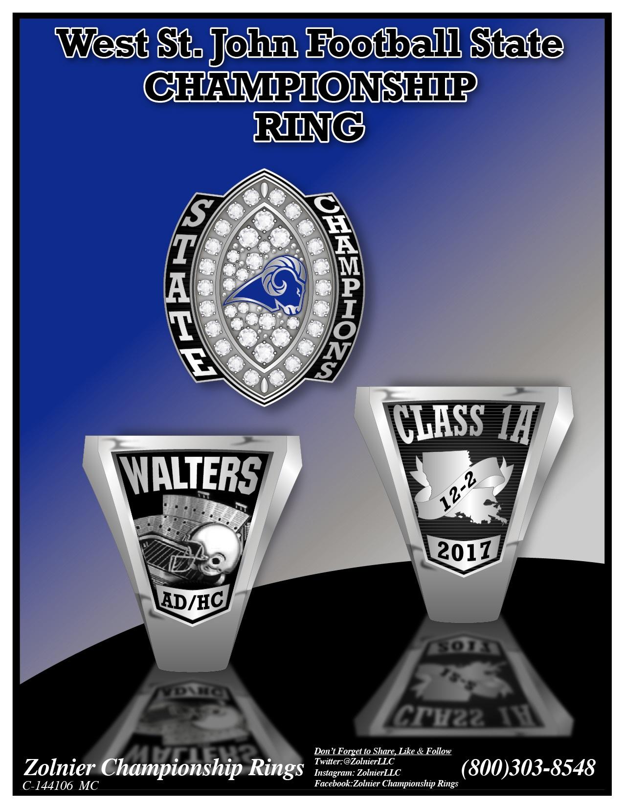 C-144106 West St. John HS FB Champ Ring