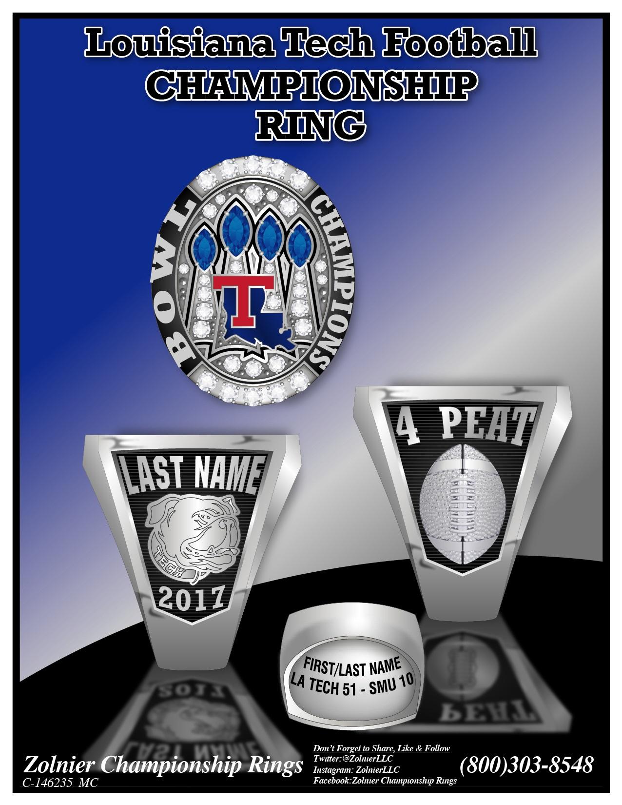 C-145231 ZOLNIER LLT Louisnana Tech Univ Football Ring 2 MC-01 (1)