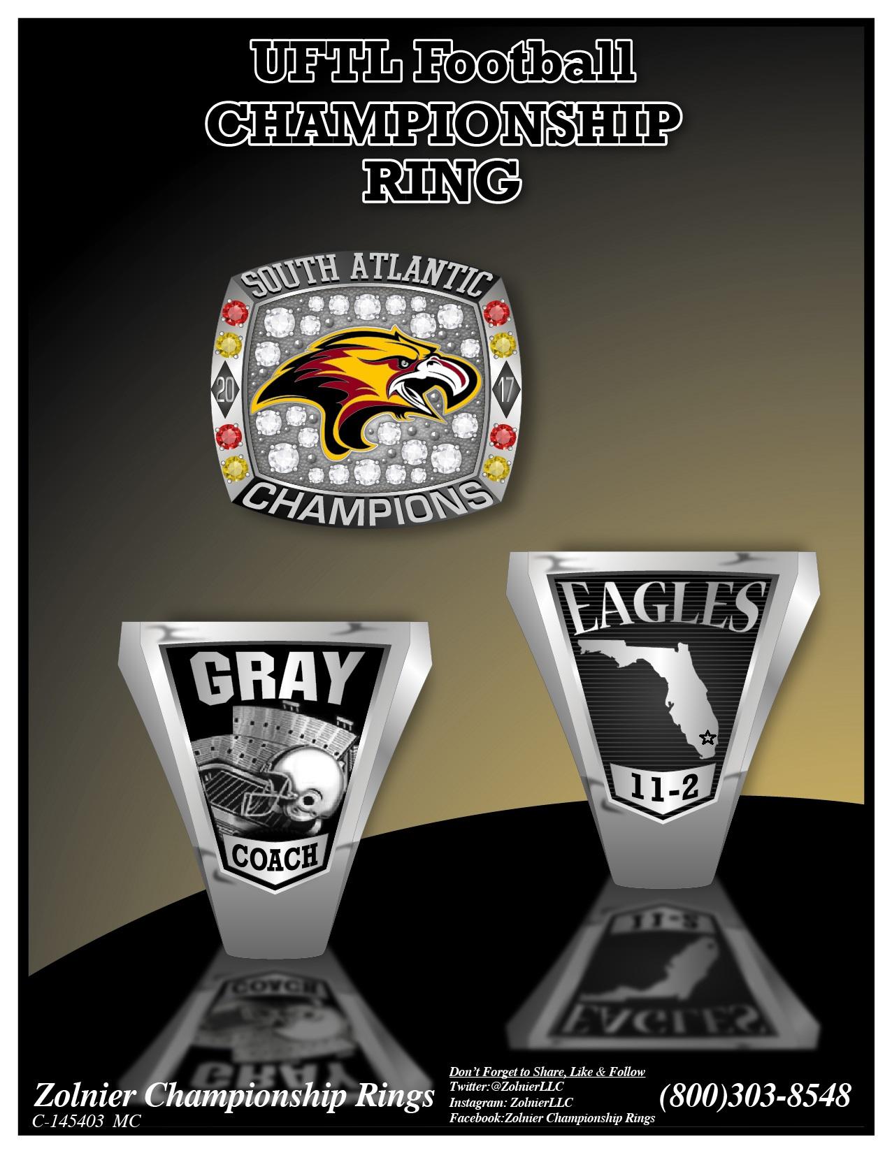 C-145403 UFTL Football Champ Ring