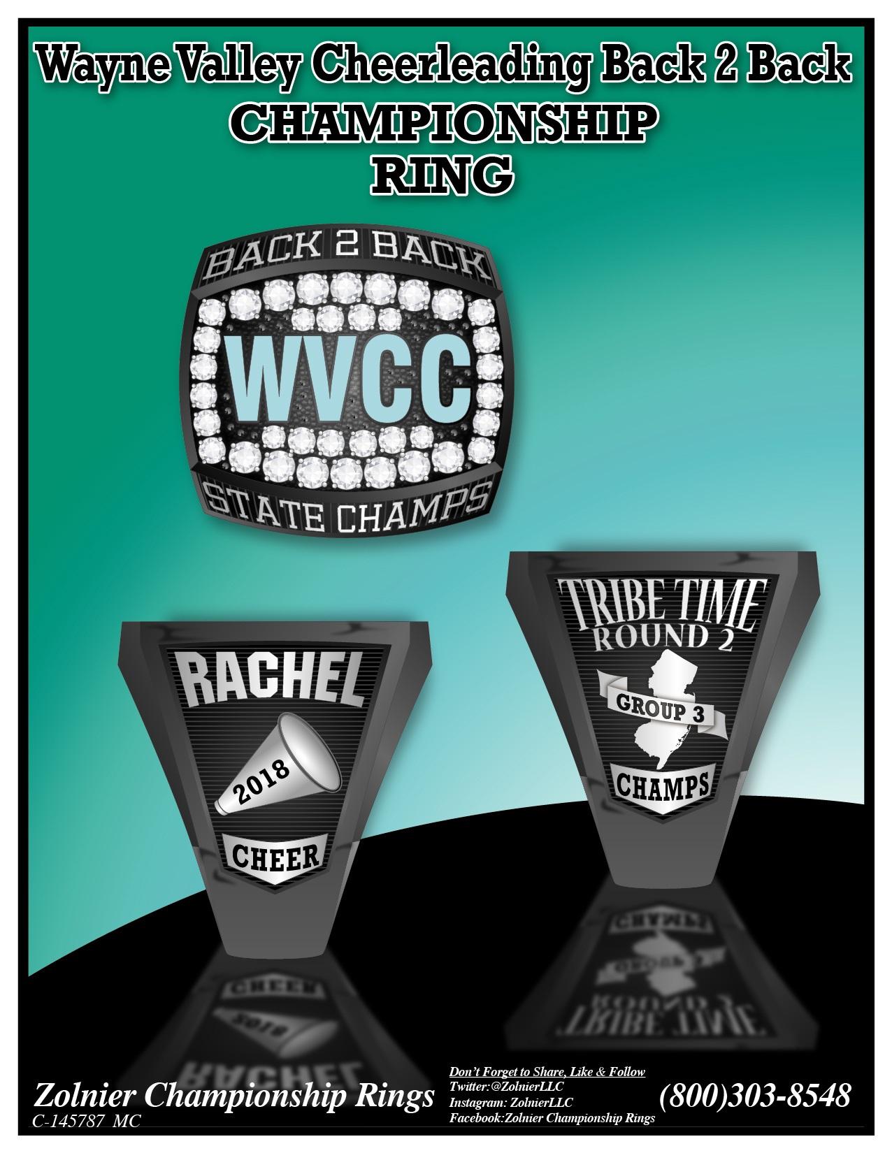 C-145787 Wayne Valley Cheerleading Champ Ring