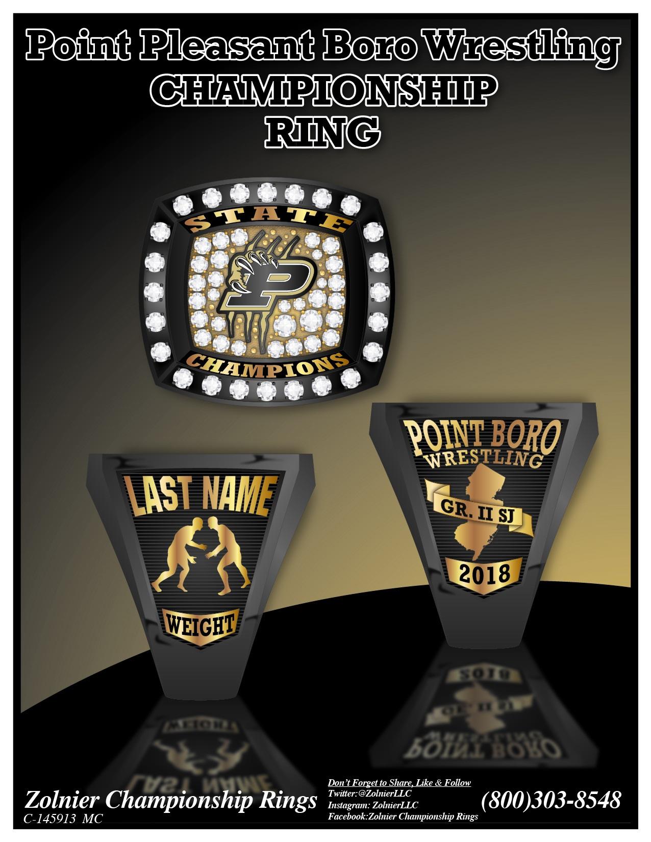 C-145913 Point Pleasant Boro Wrestling Champ Ring