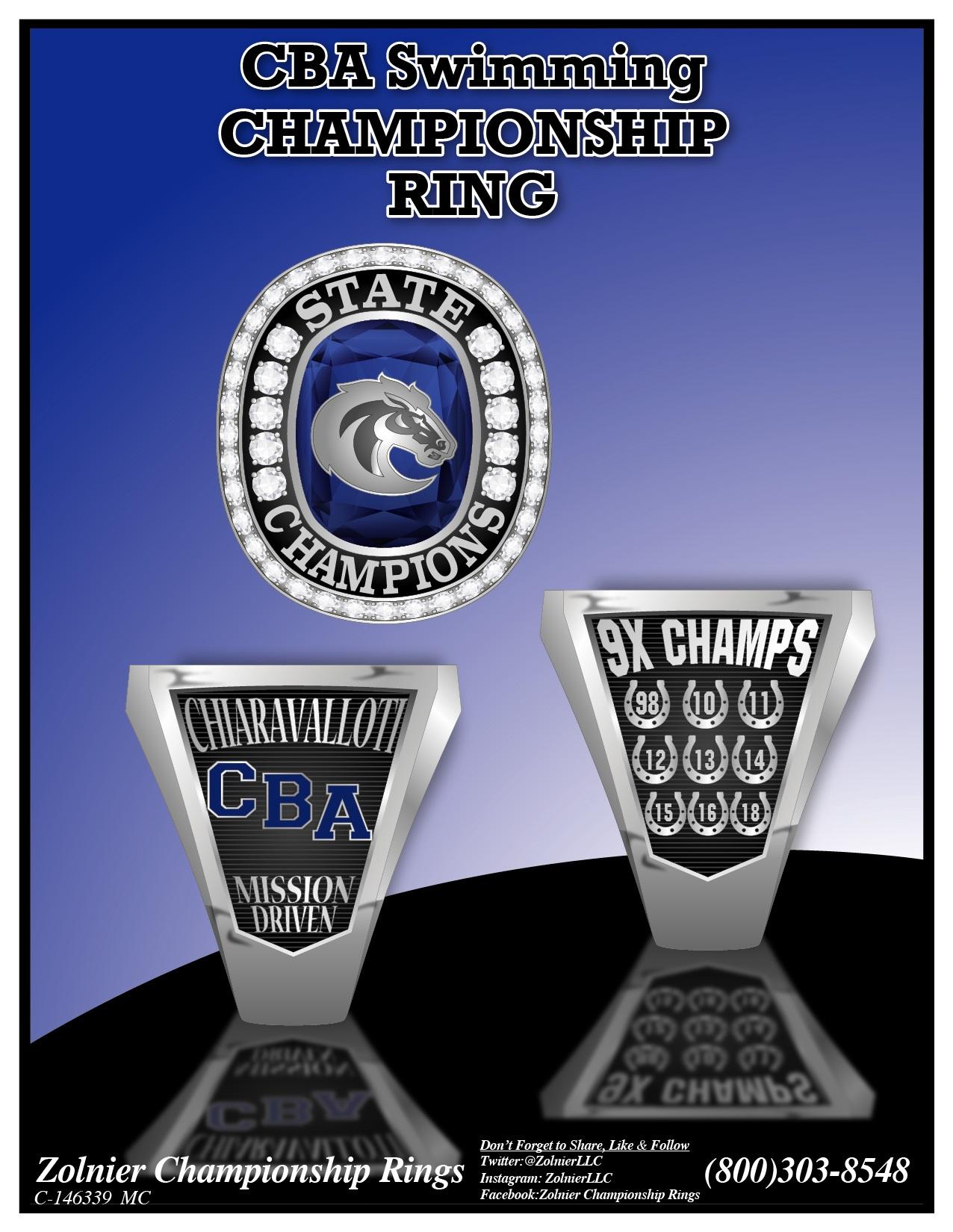 C-146028 CBA 2018 Swim Champ Ring