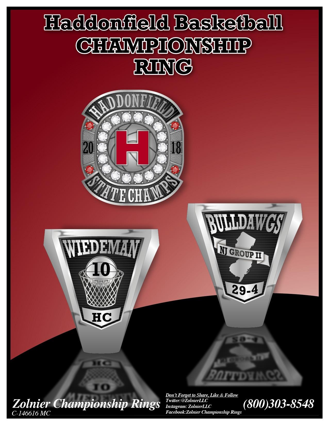 C-146616 Haddonfield Memorial Basketball Champ Ring