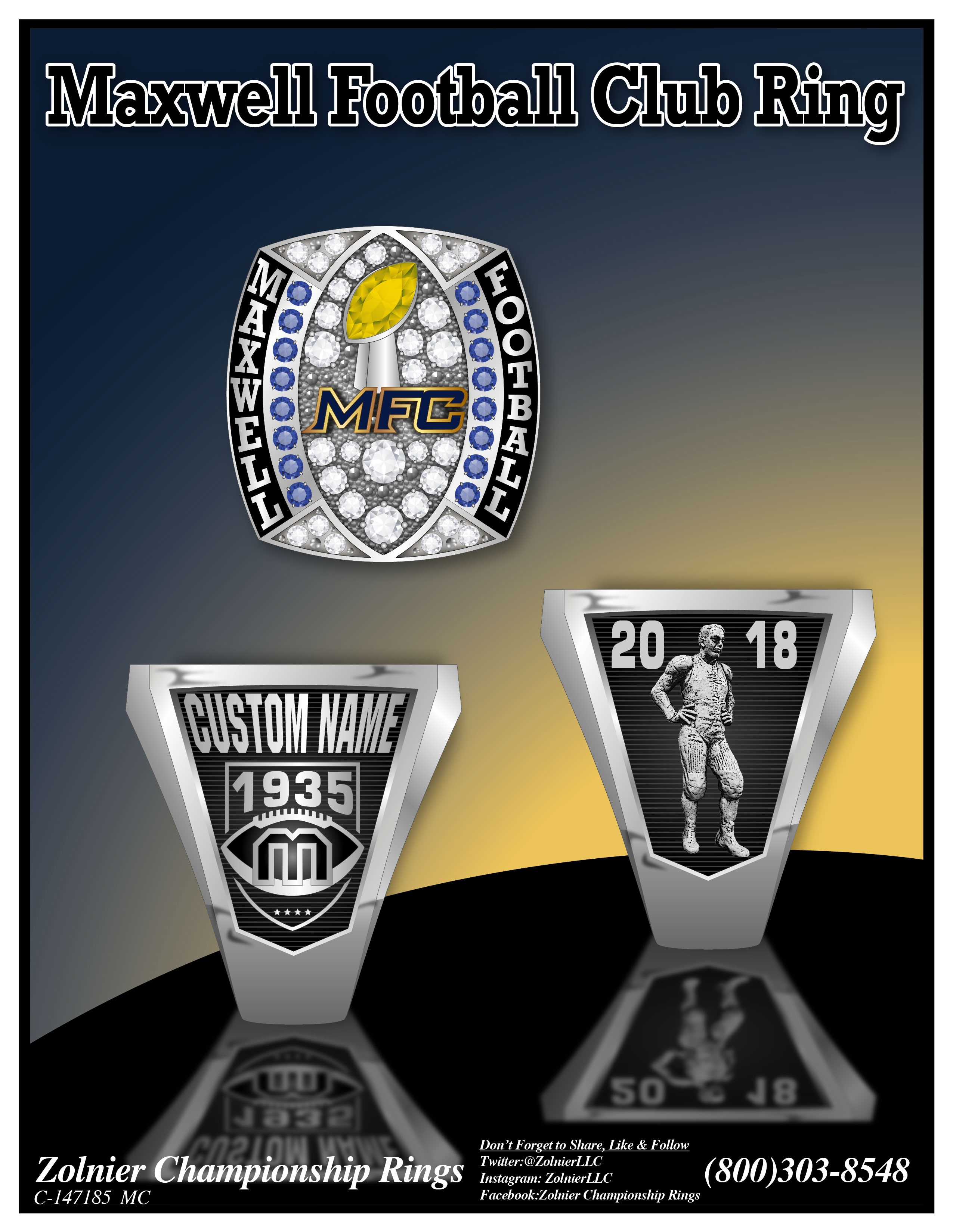 C-147185 Maxwell Football Club Champ Ring - Copy