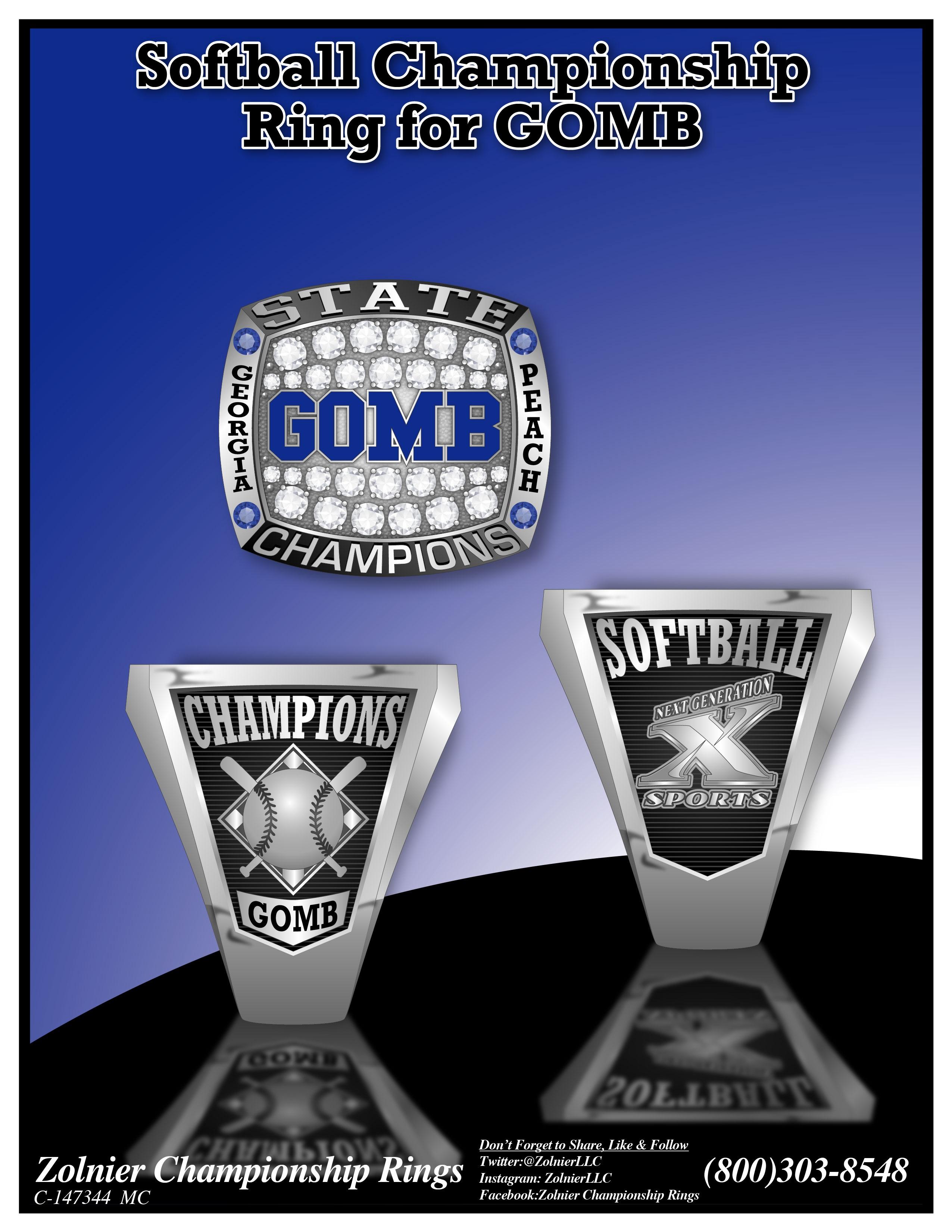 C-147344 GOMB Softball Champ Ring