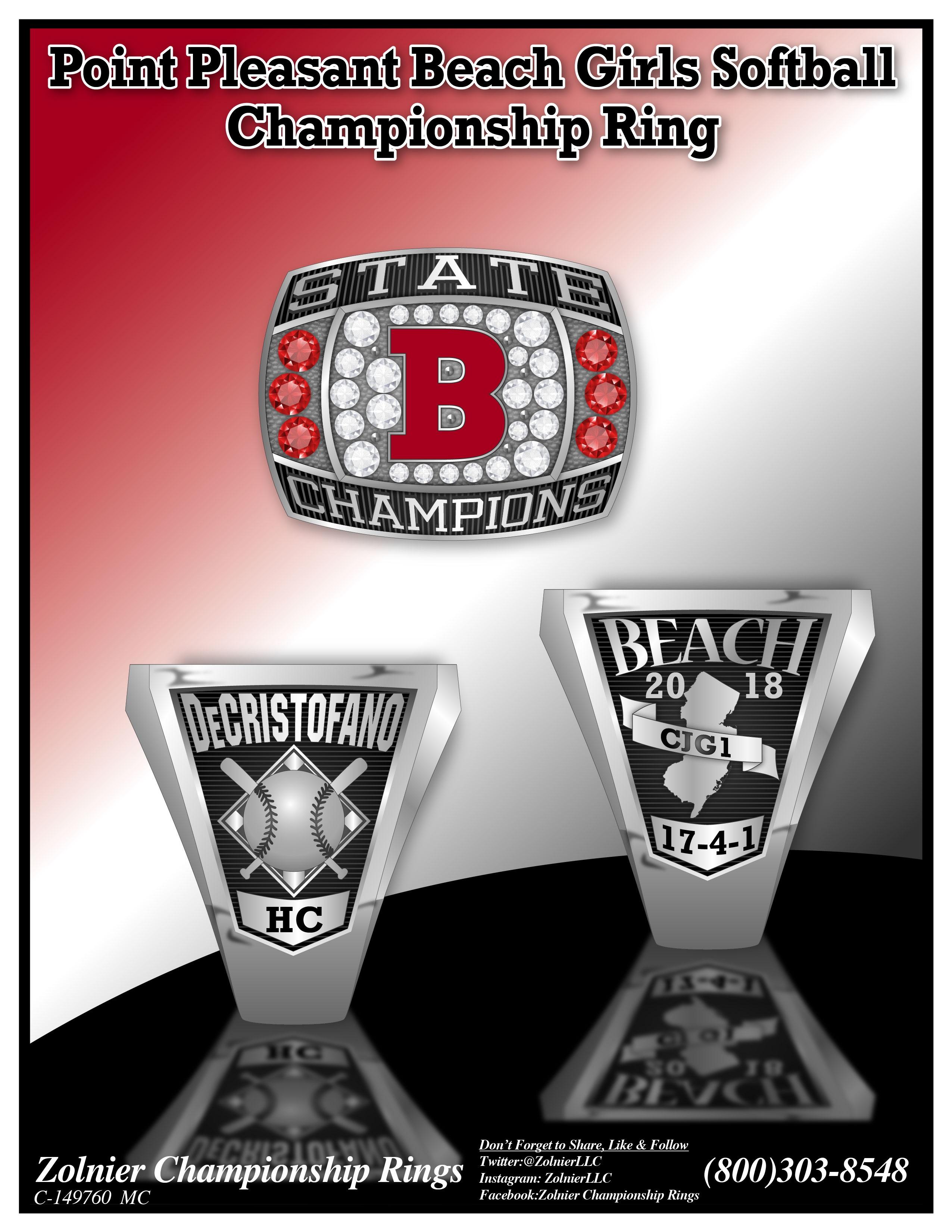 C-149760 Point Pleasant Beach Softball Champ Ring