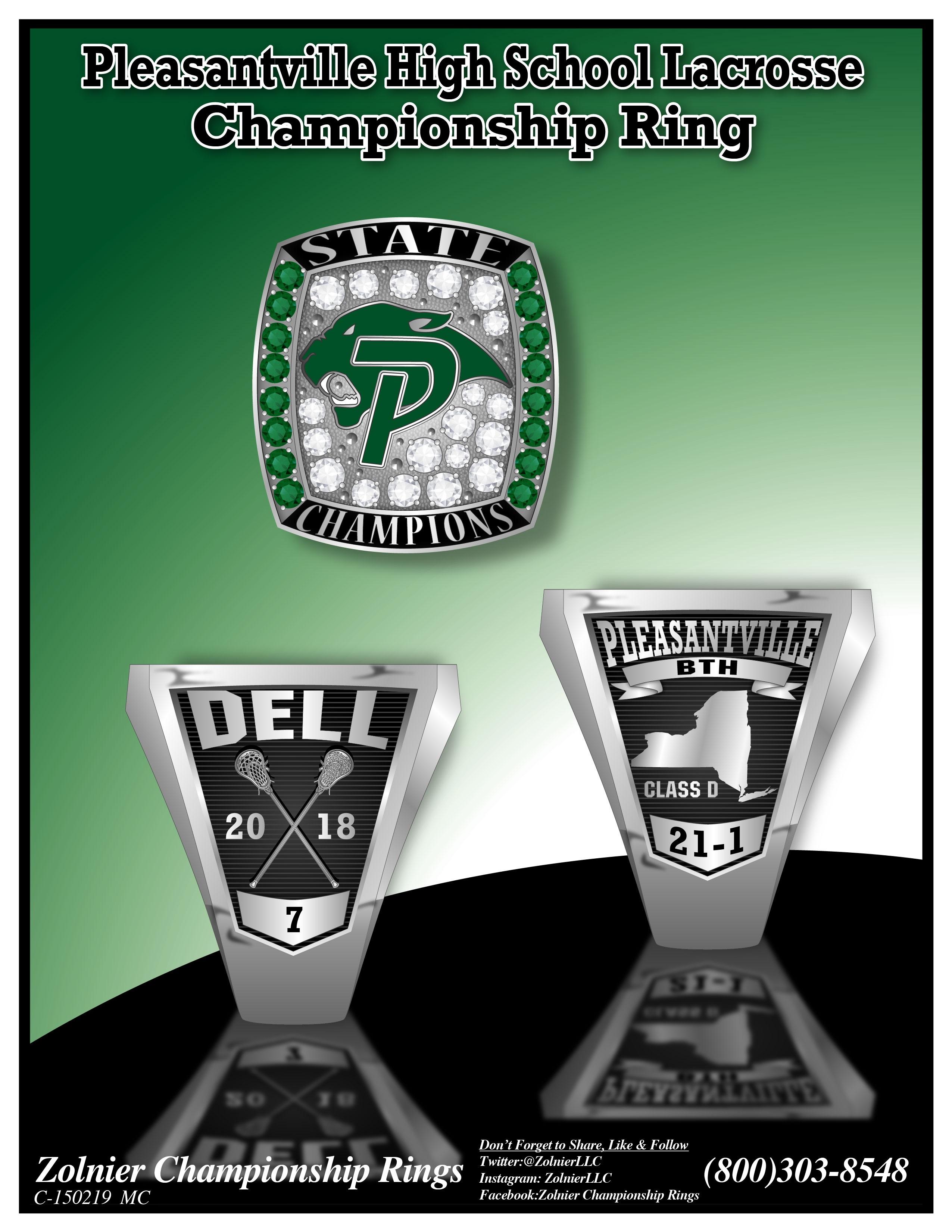 C-150219 Pleasantville HS Lacrosse Champ Ring