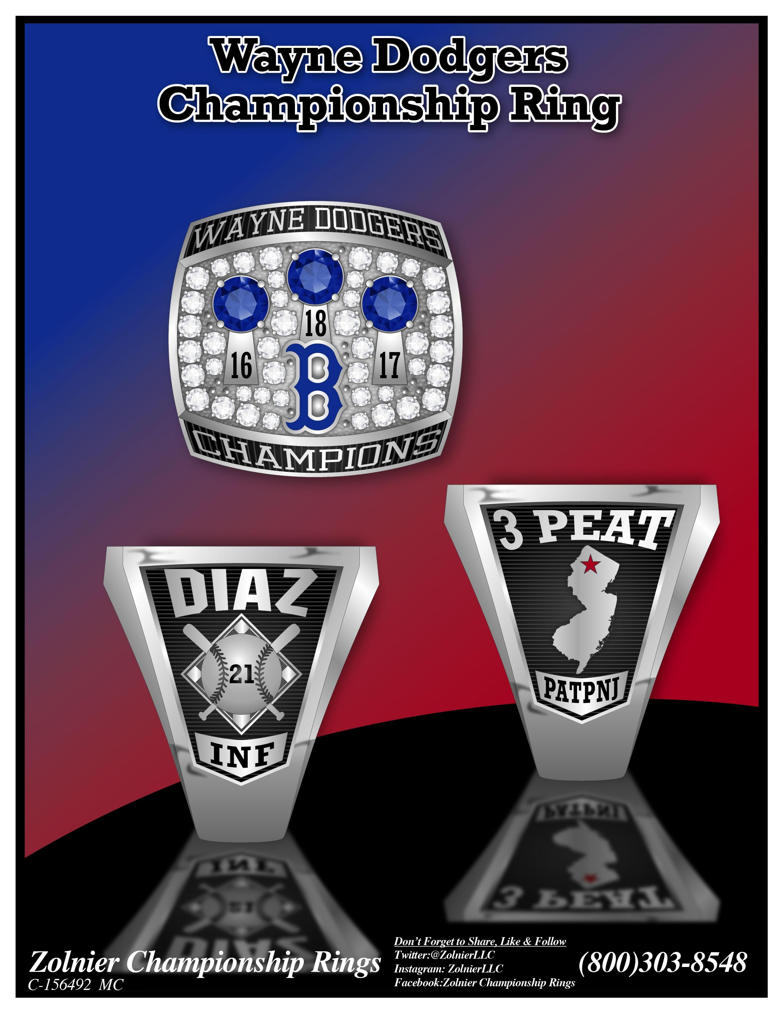 C-156492 Wayne Dodgers Baseball Ring
