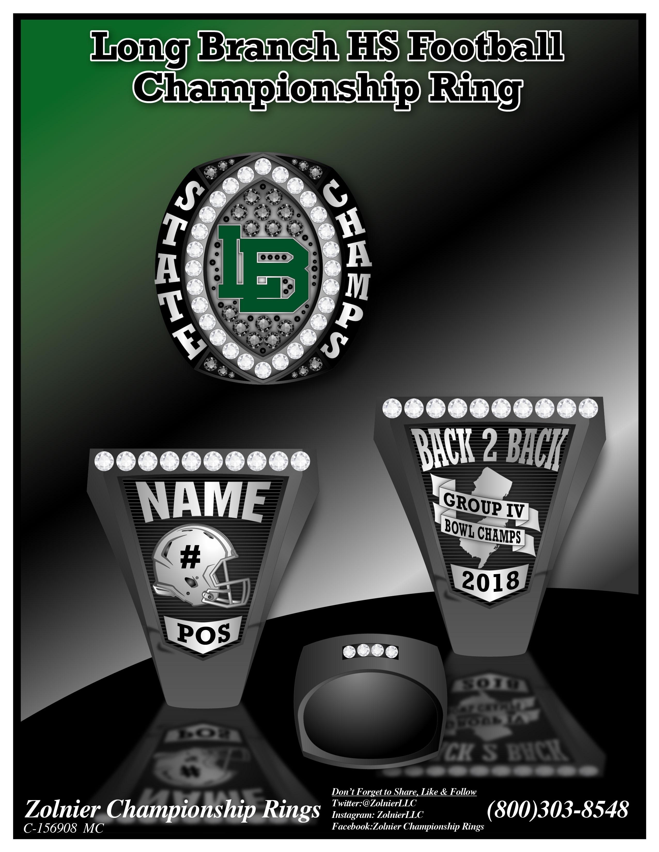 C-156908 Long Branch HS Football Champ Ring