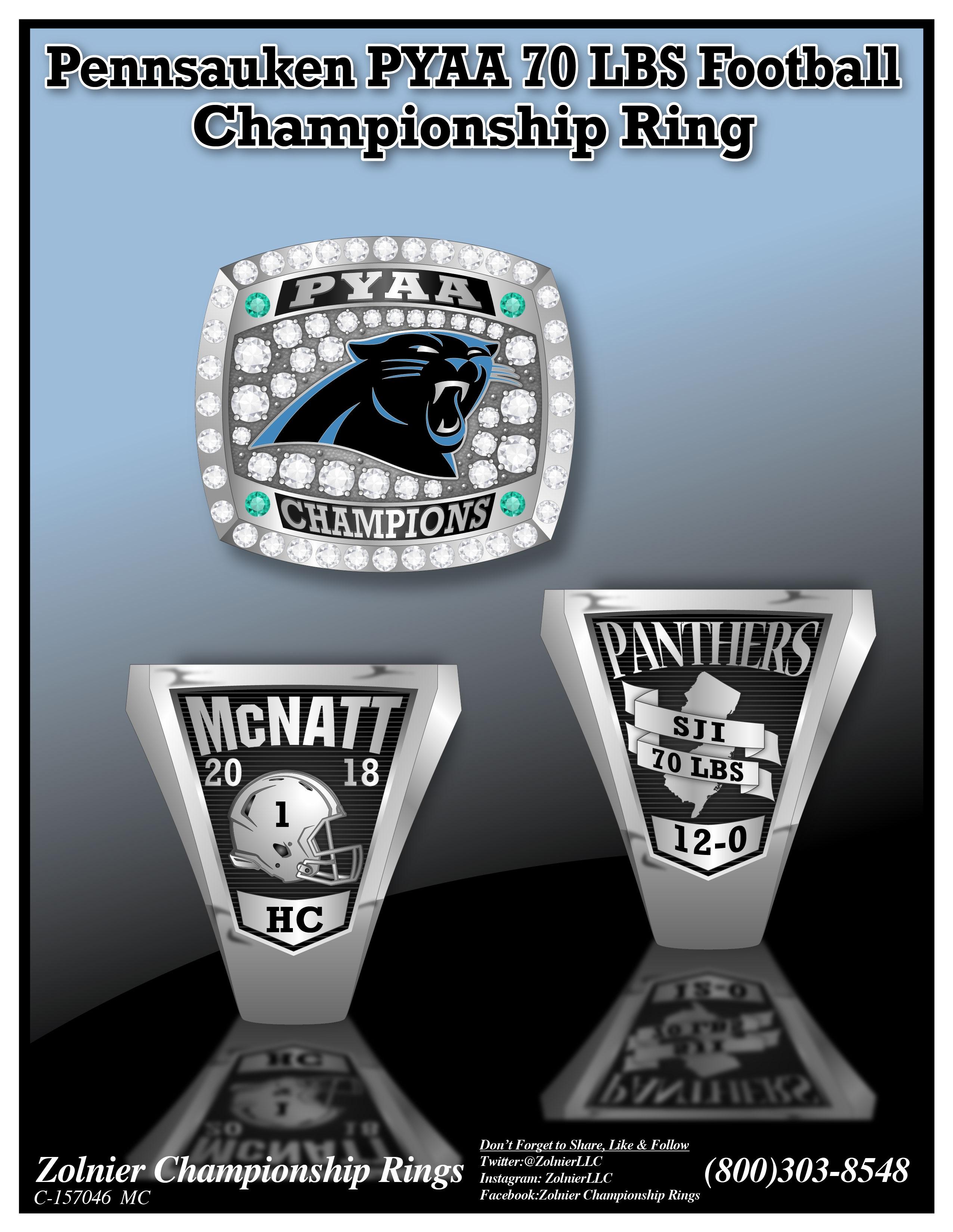 C-157046 PYAA 70 LBS Pennsauken Champ Ring
