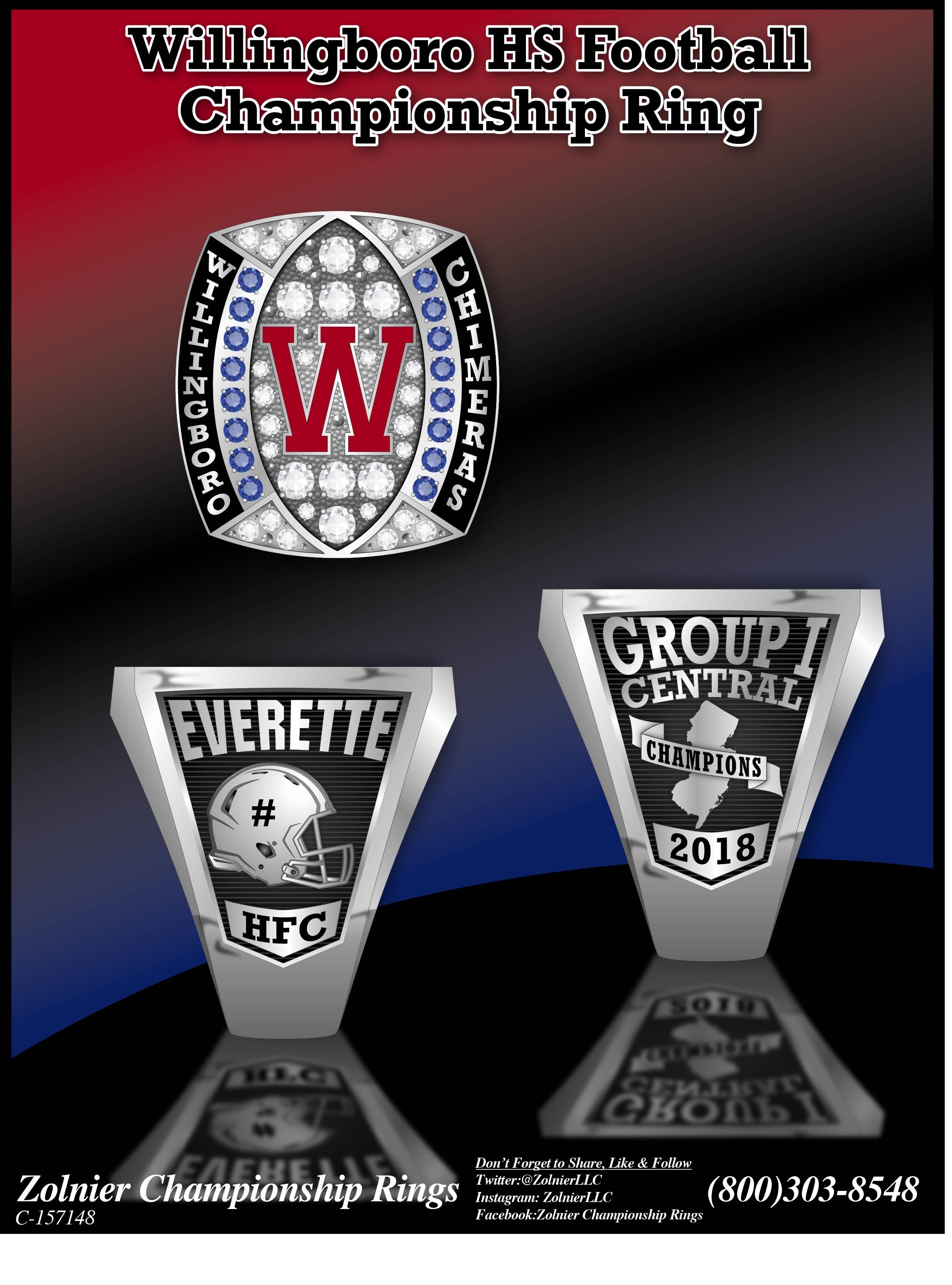 C-157048 Willingboro HS Football Champ Ring