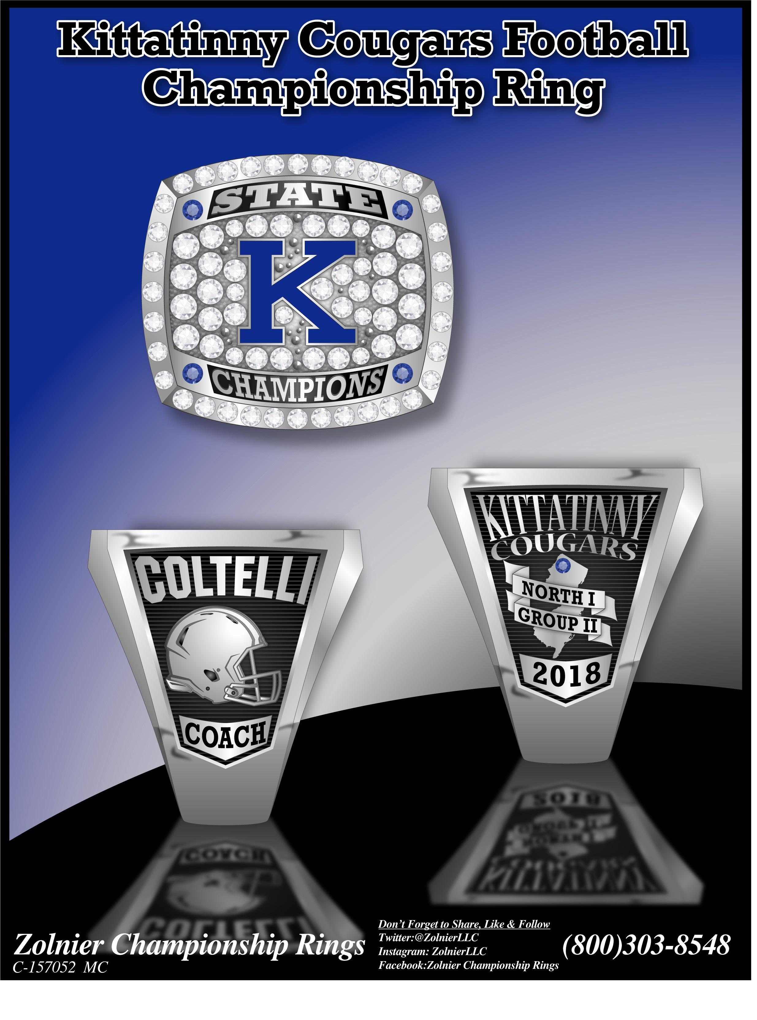 C-157052 Kittatinny Cougars Football Ring