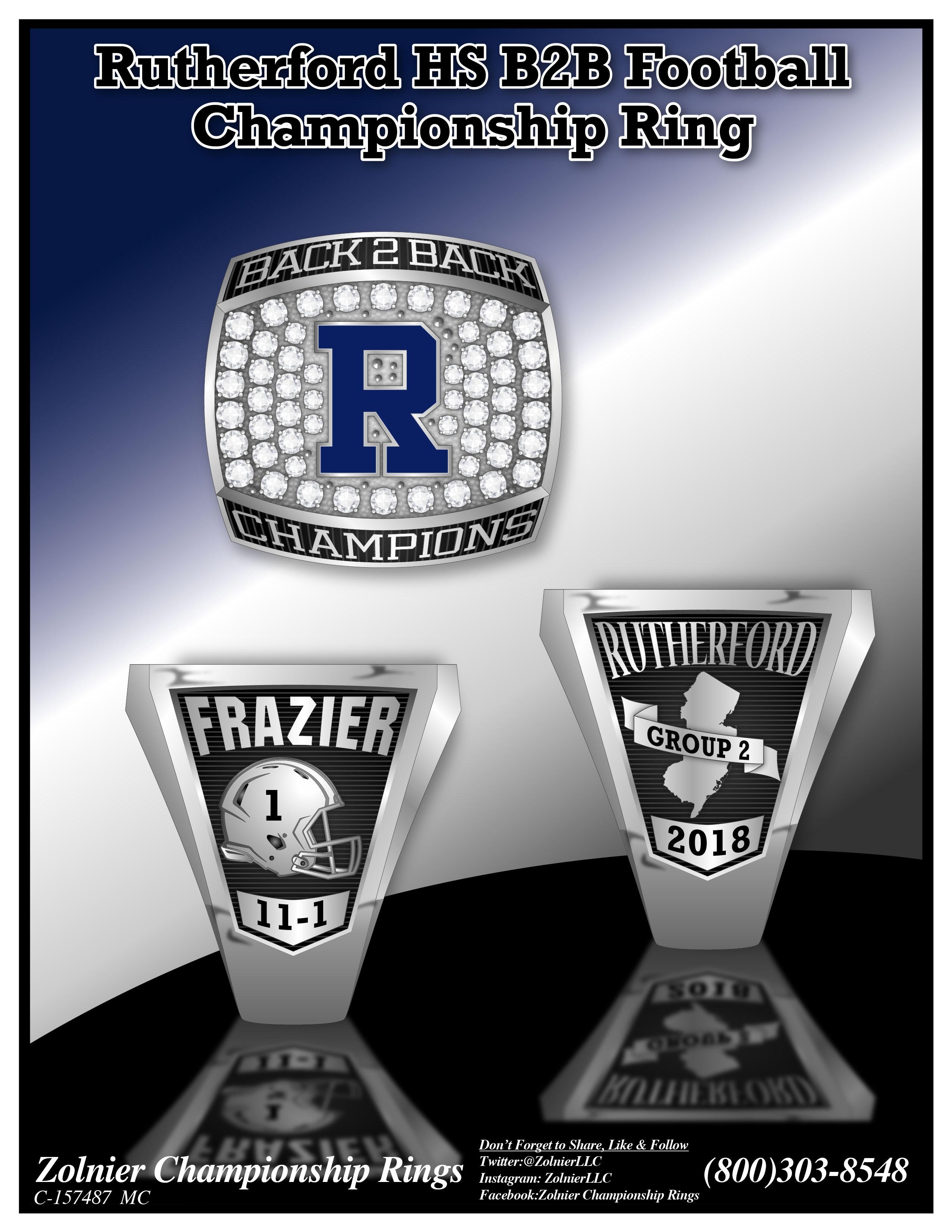 C-157487 Rutherford HS Football B2B Champ Ring
