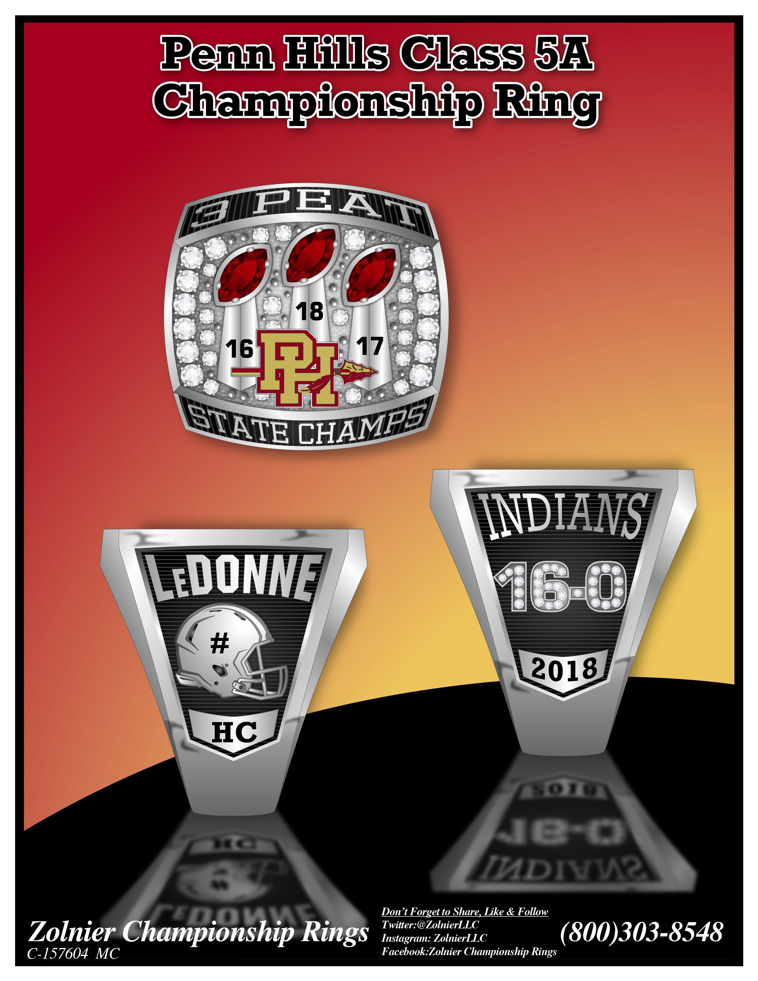 C-157604 Penn Hills Football Champ Ring