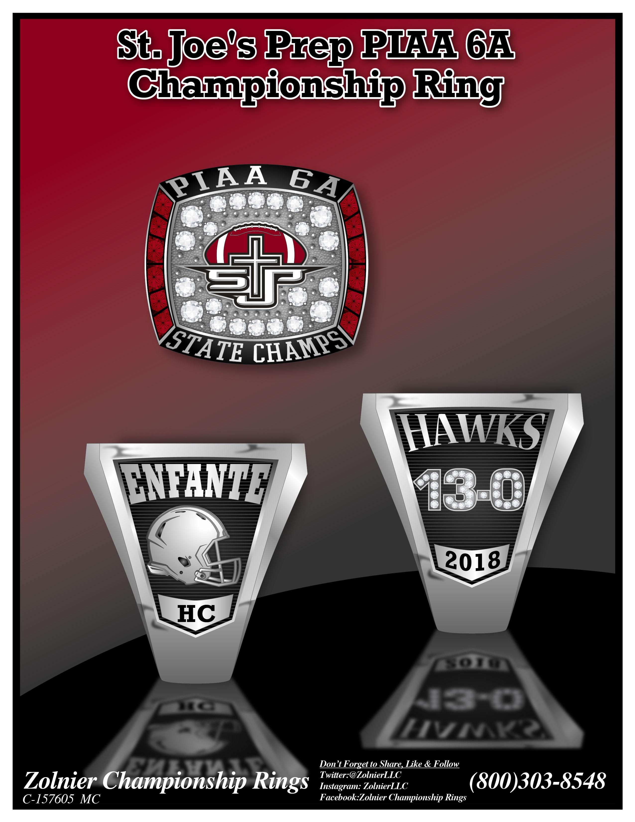 C-157605 Saint Joe's Prep Football Champ Ring
