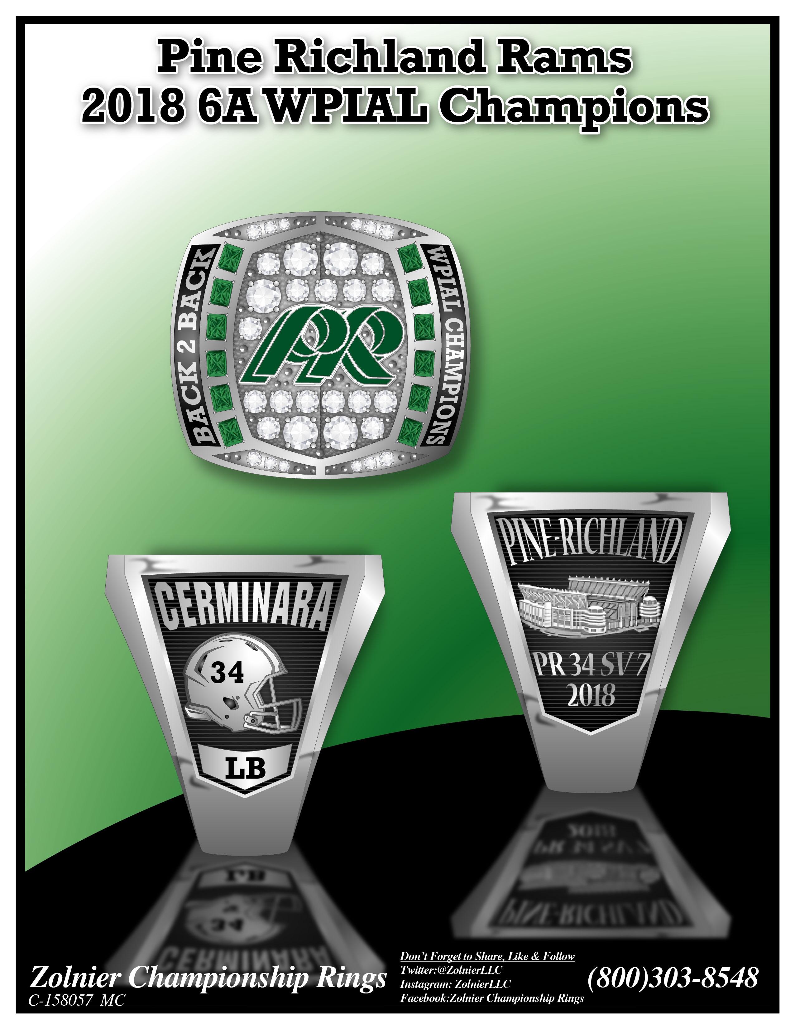 C-158057 Pine Richland Football Champ Ring