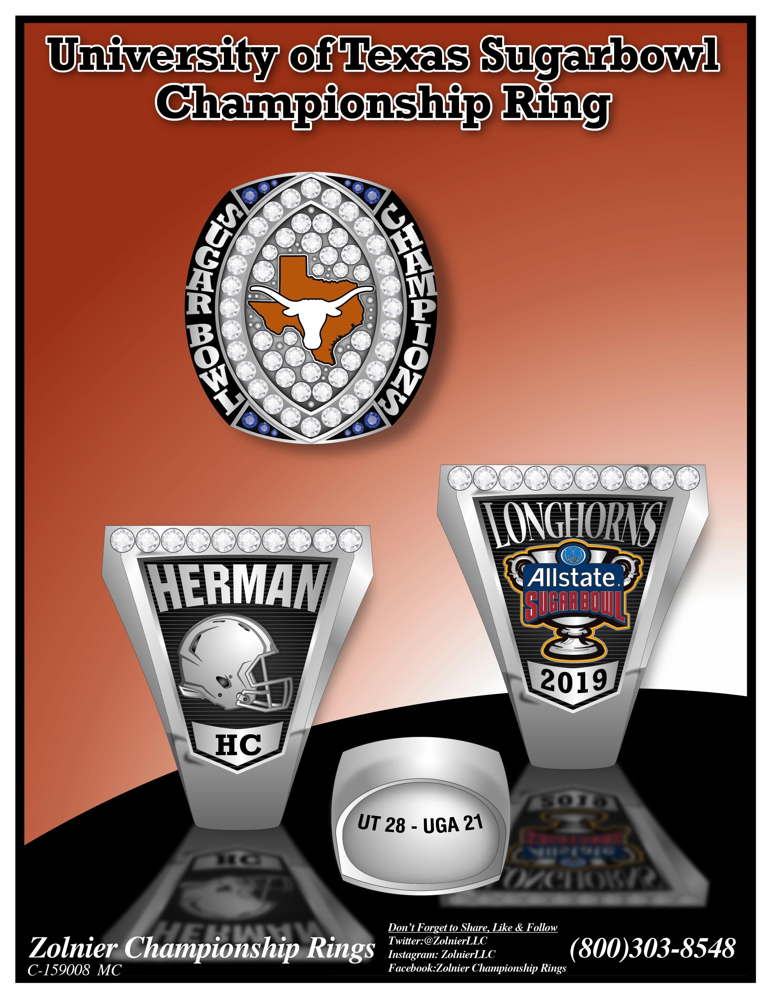 C-159008 Texas Sugarbowl Football Ring