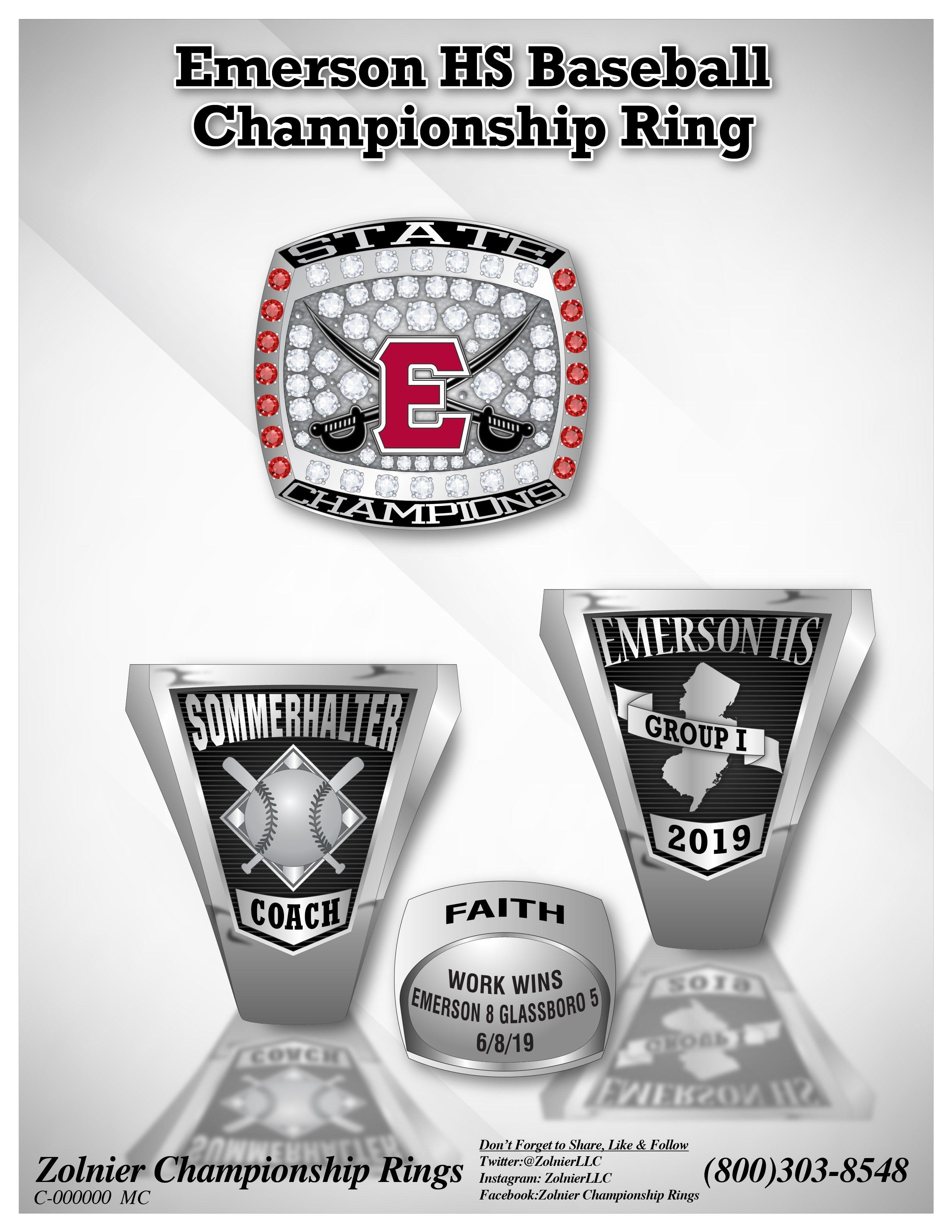 C-164193 Emerson HS Baseball Champ Ring
