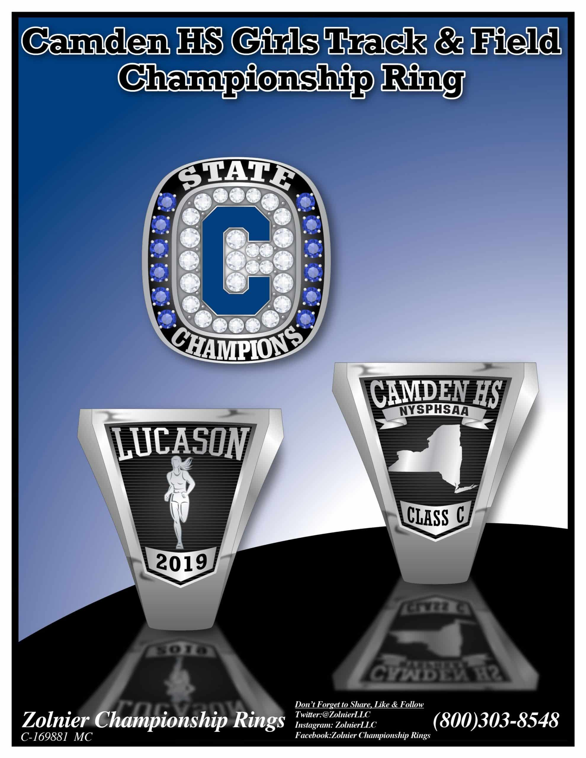 Stainless Steel - Championship Ring - 2017 - Cross Country