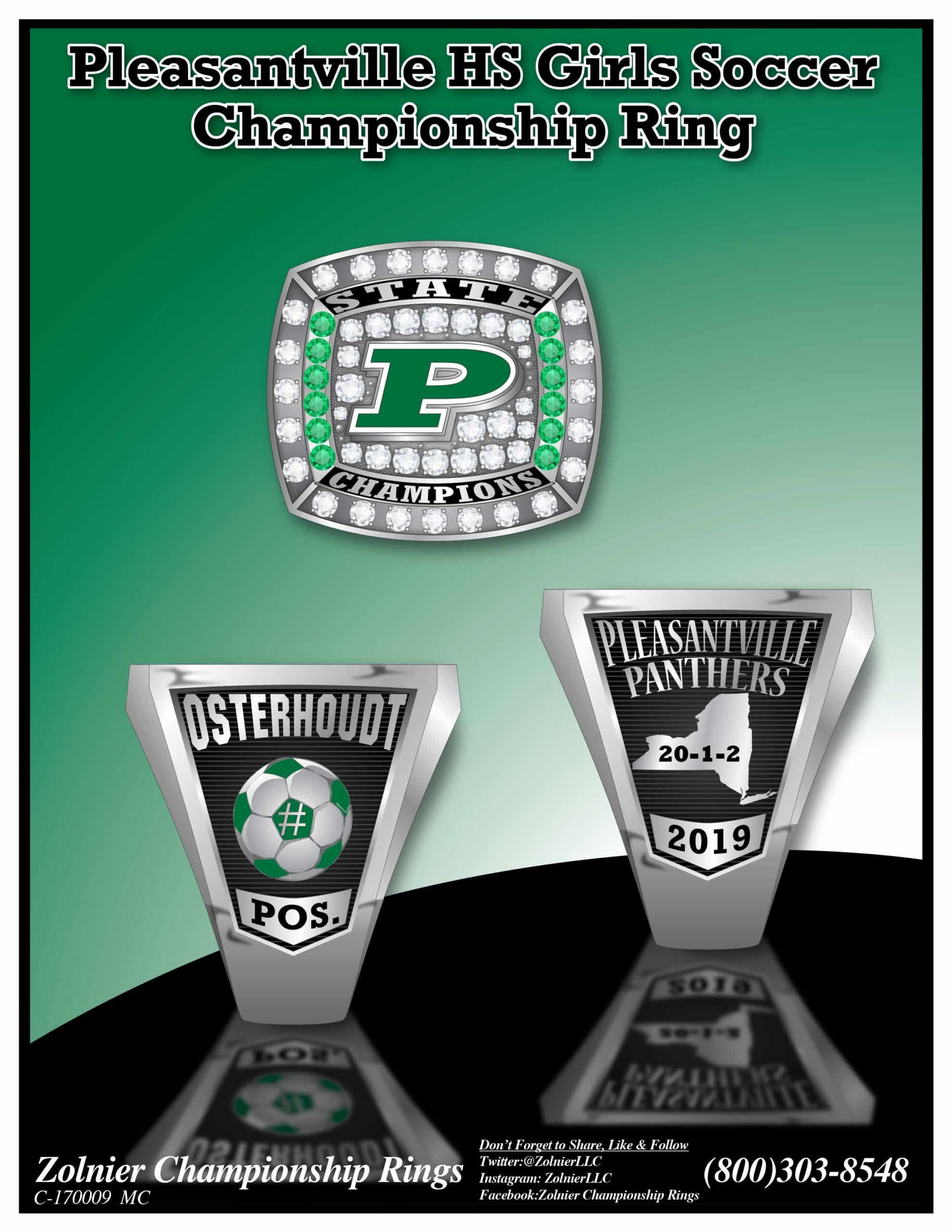 Stainless Steel - Championship Ring - 2019 - Soccer
