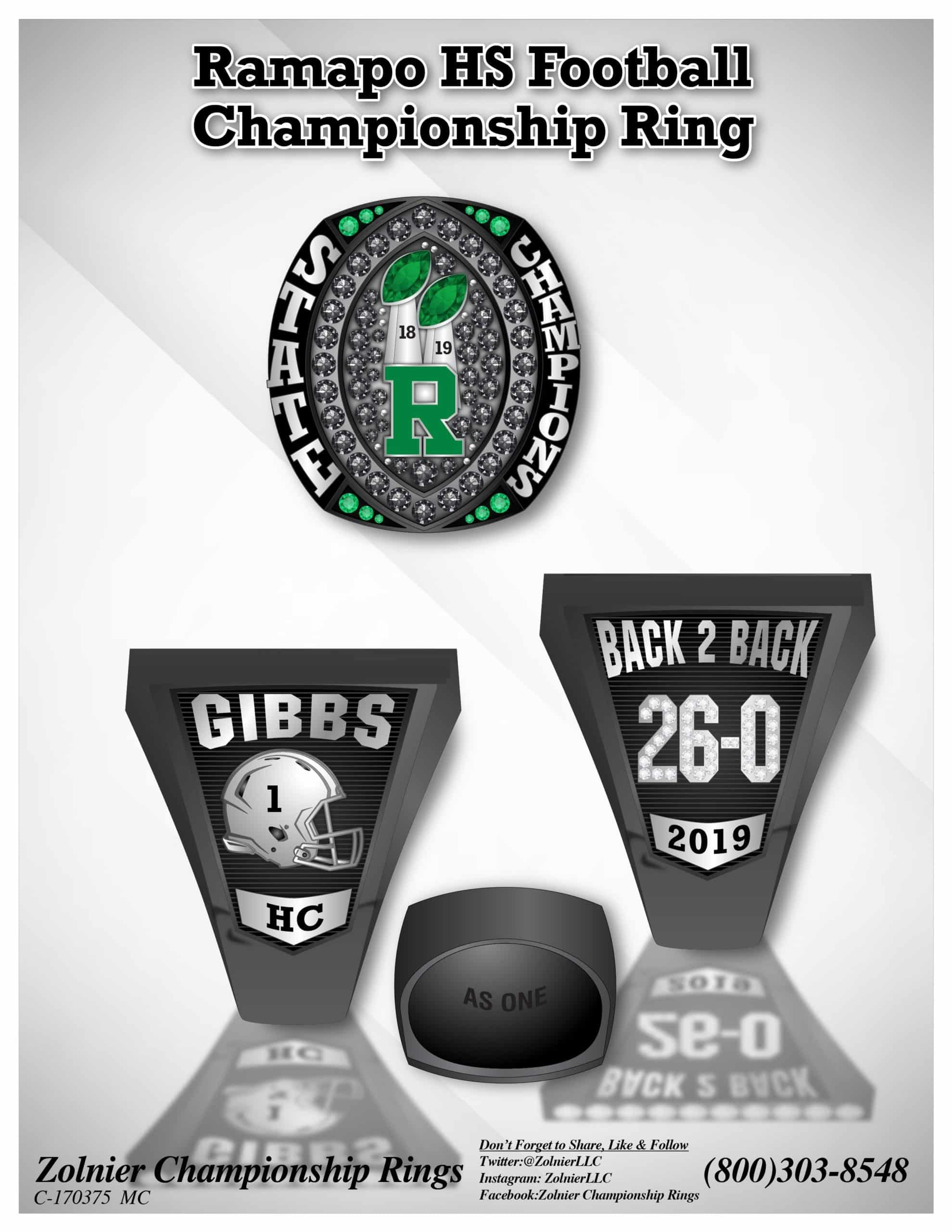 State Championship Football Ring 2019