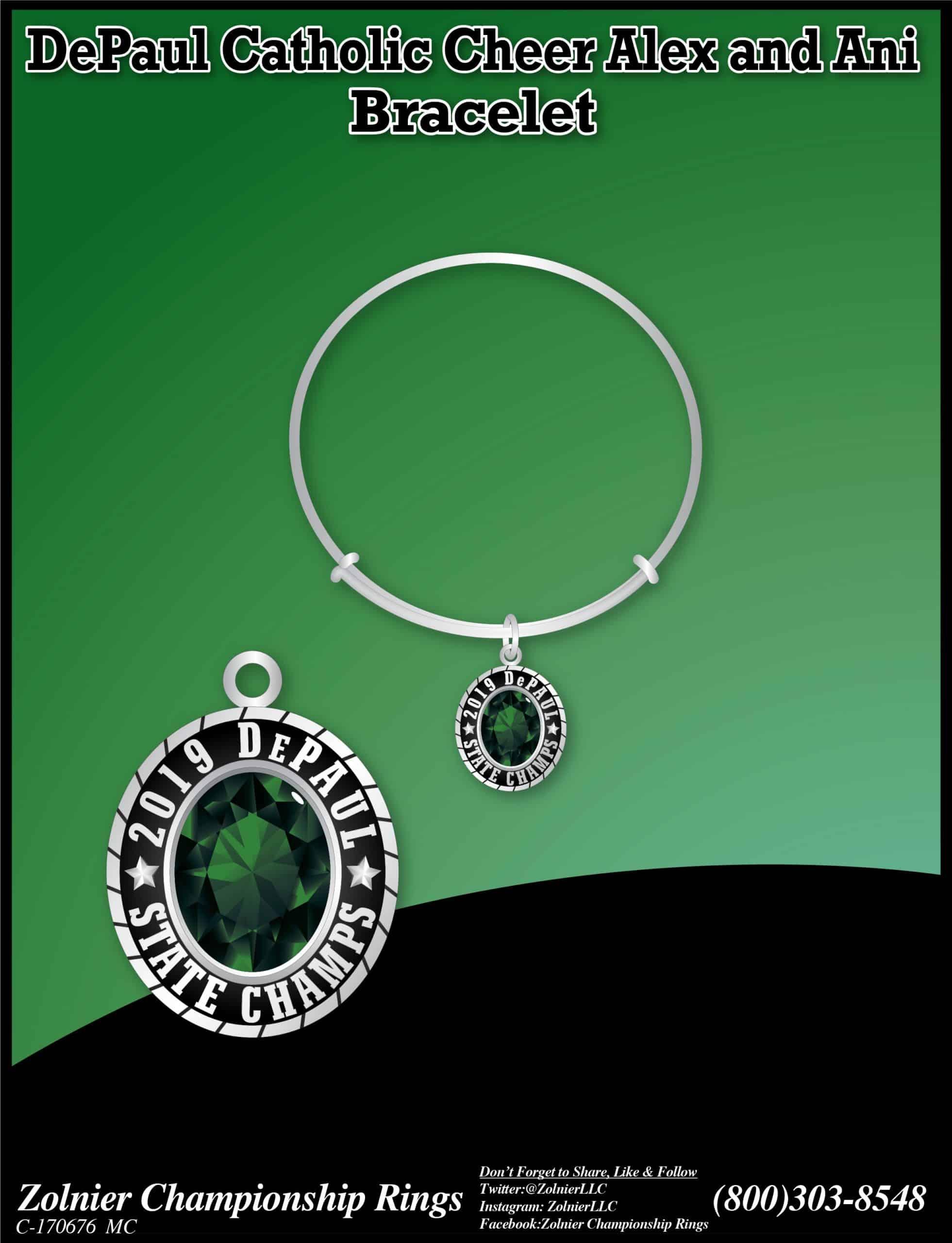 C-170676 - DePaul Cath. Cheer Bracelet -