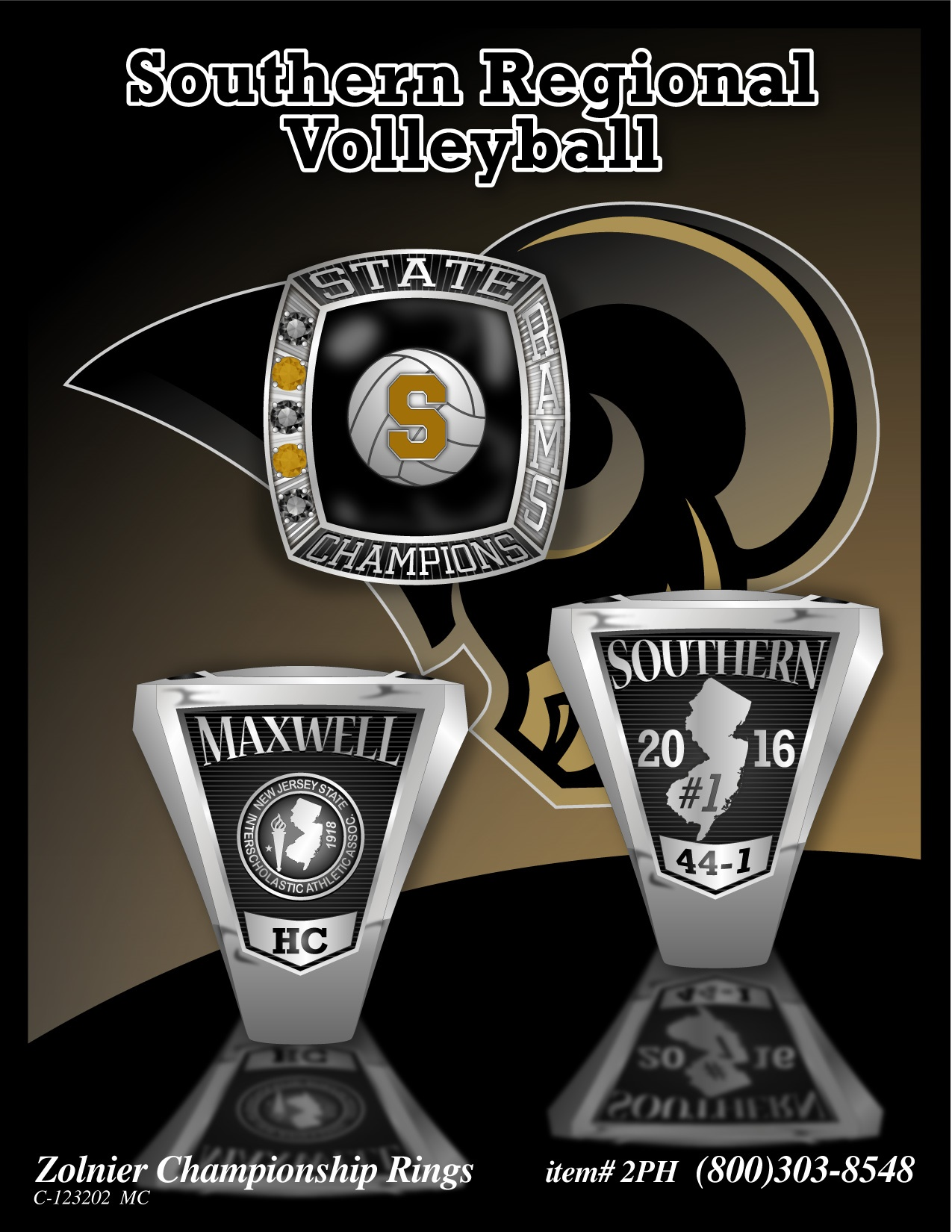 southern volleyball ring