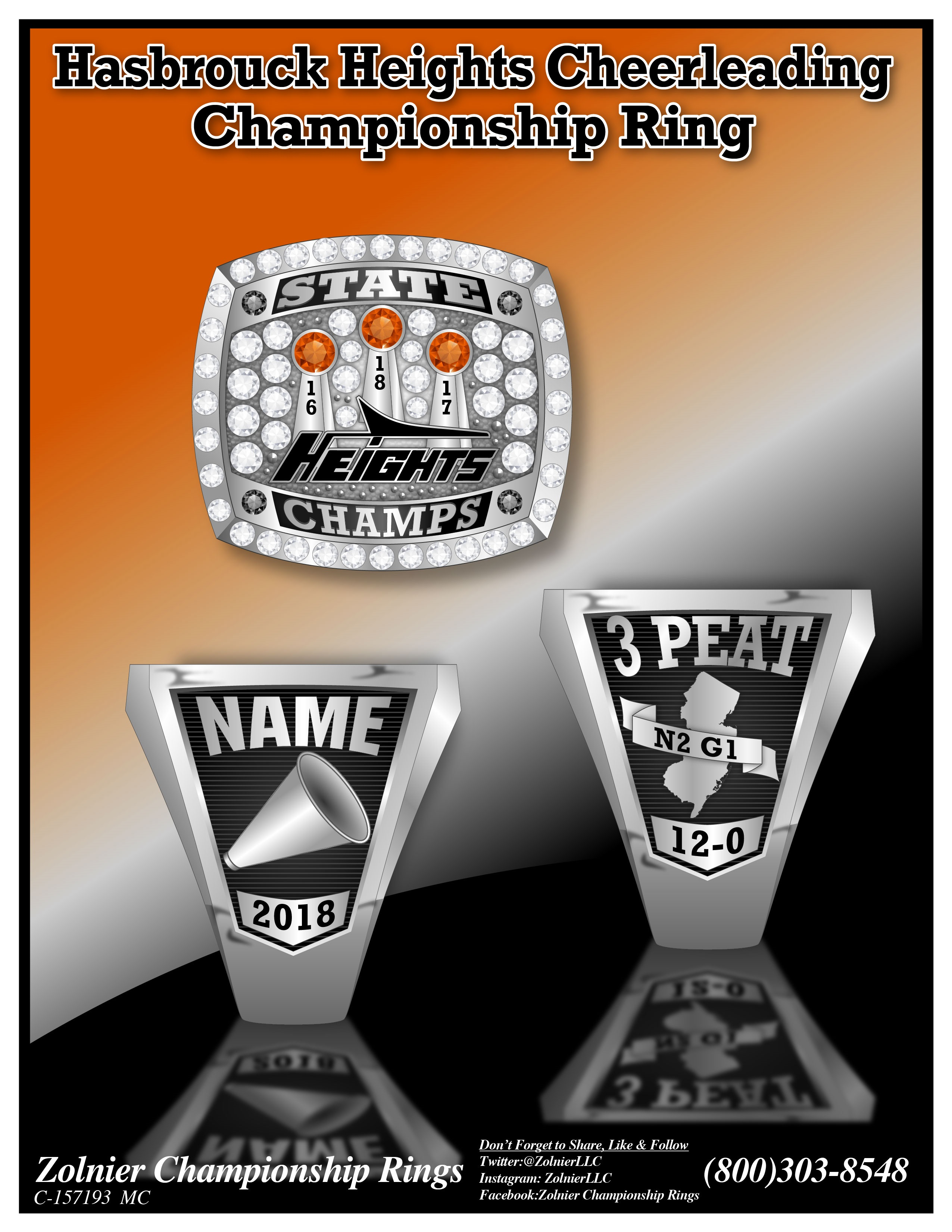 C-157193 Hasbrouck Heights Cheer Ring