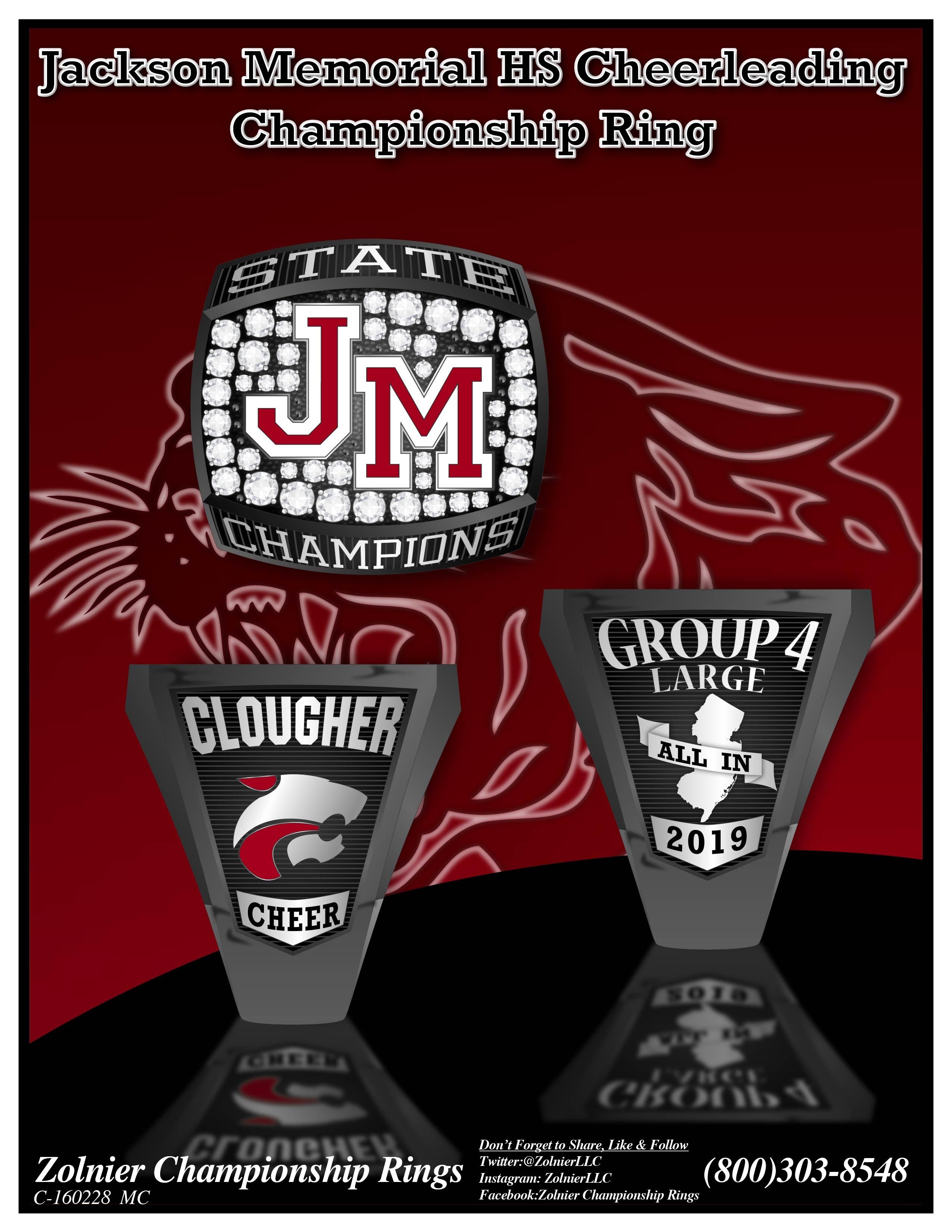 C-160228 Jackson Memorial Cheer Champ Ring