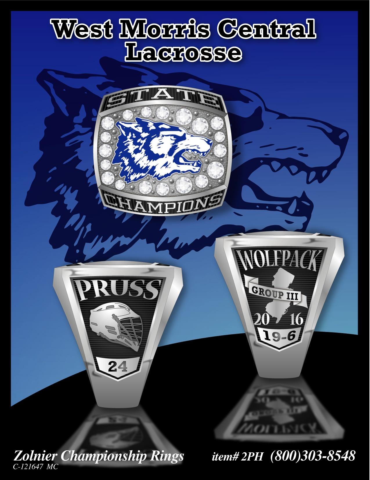 West Morris Central Lacrosse Championship Ring