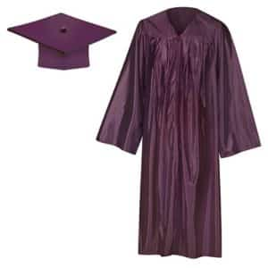 Maroon Shiny Cap & Gown