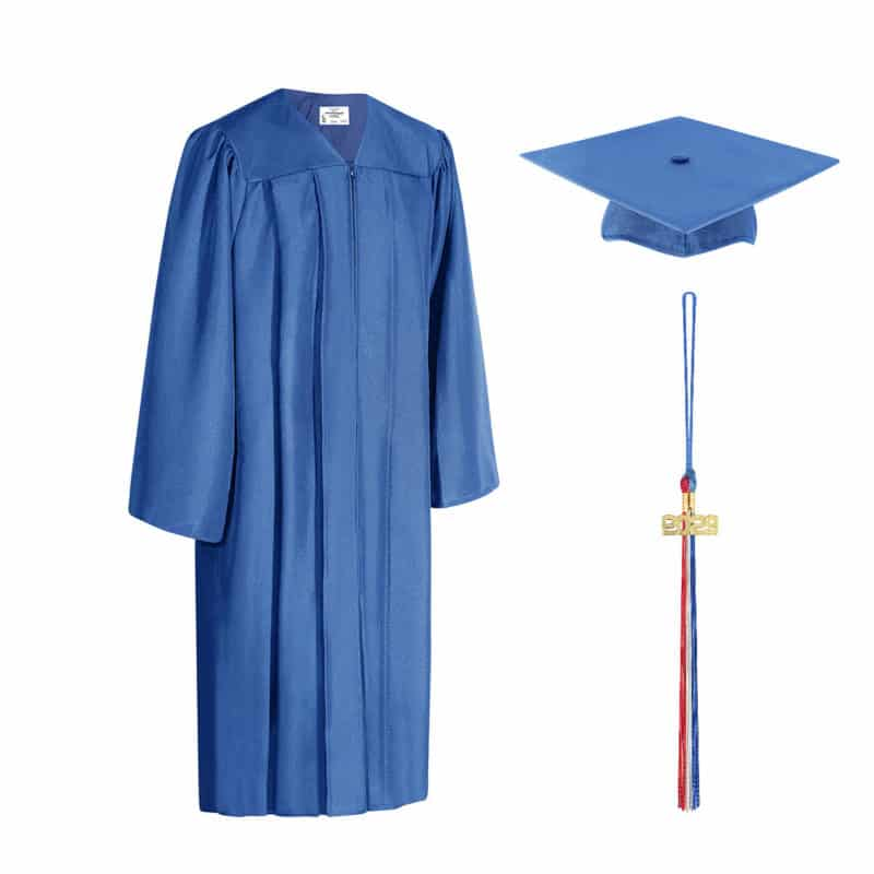Royal Blue Cap & Gown with Tassel